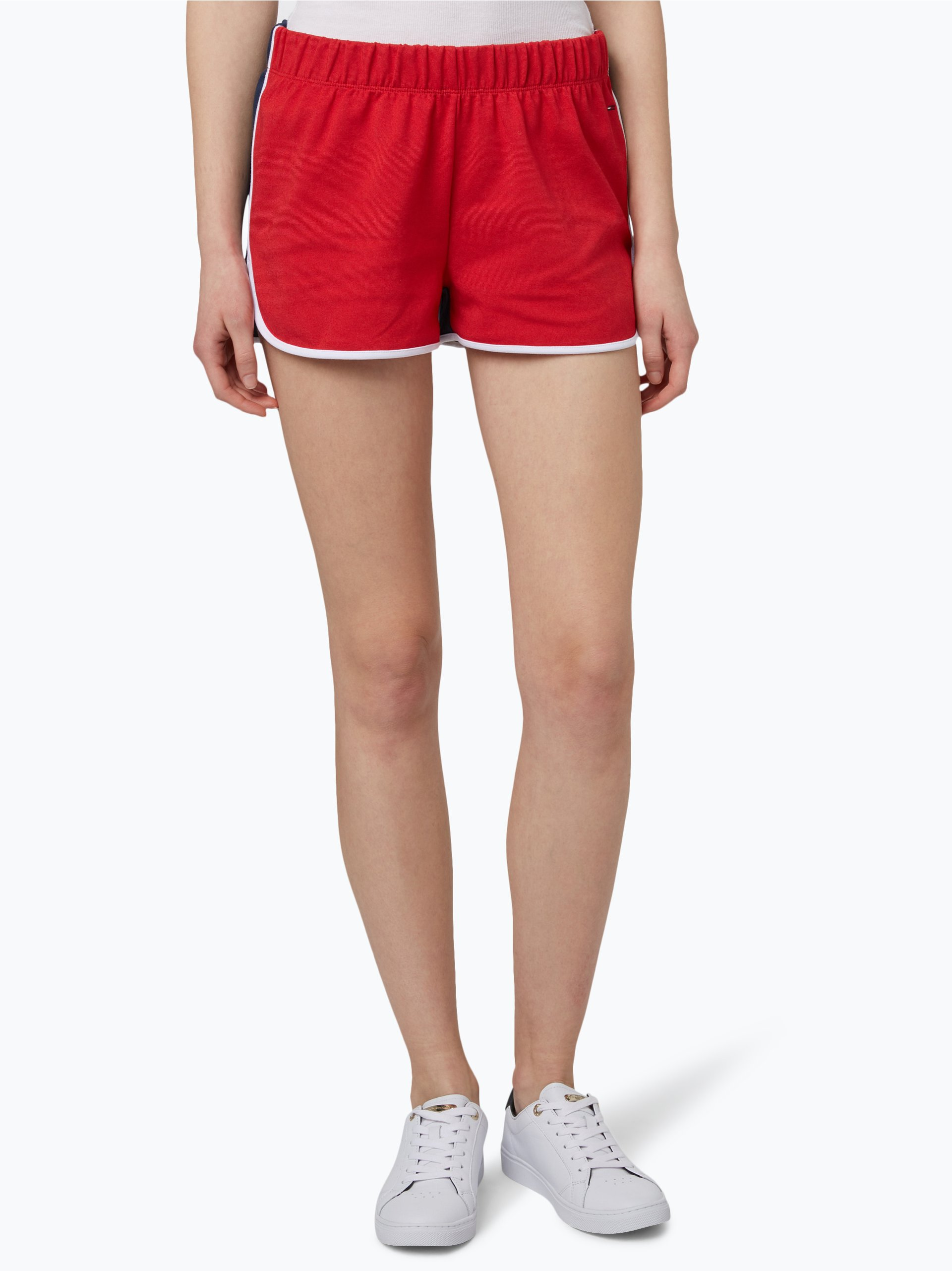 hilfiger denim damen shorts rot uni online kaufen peek. Black Bedroom Furniture Sets. Home Design Ideas