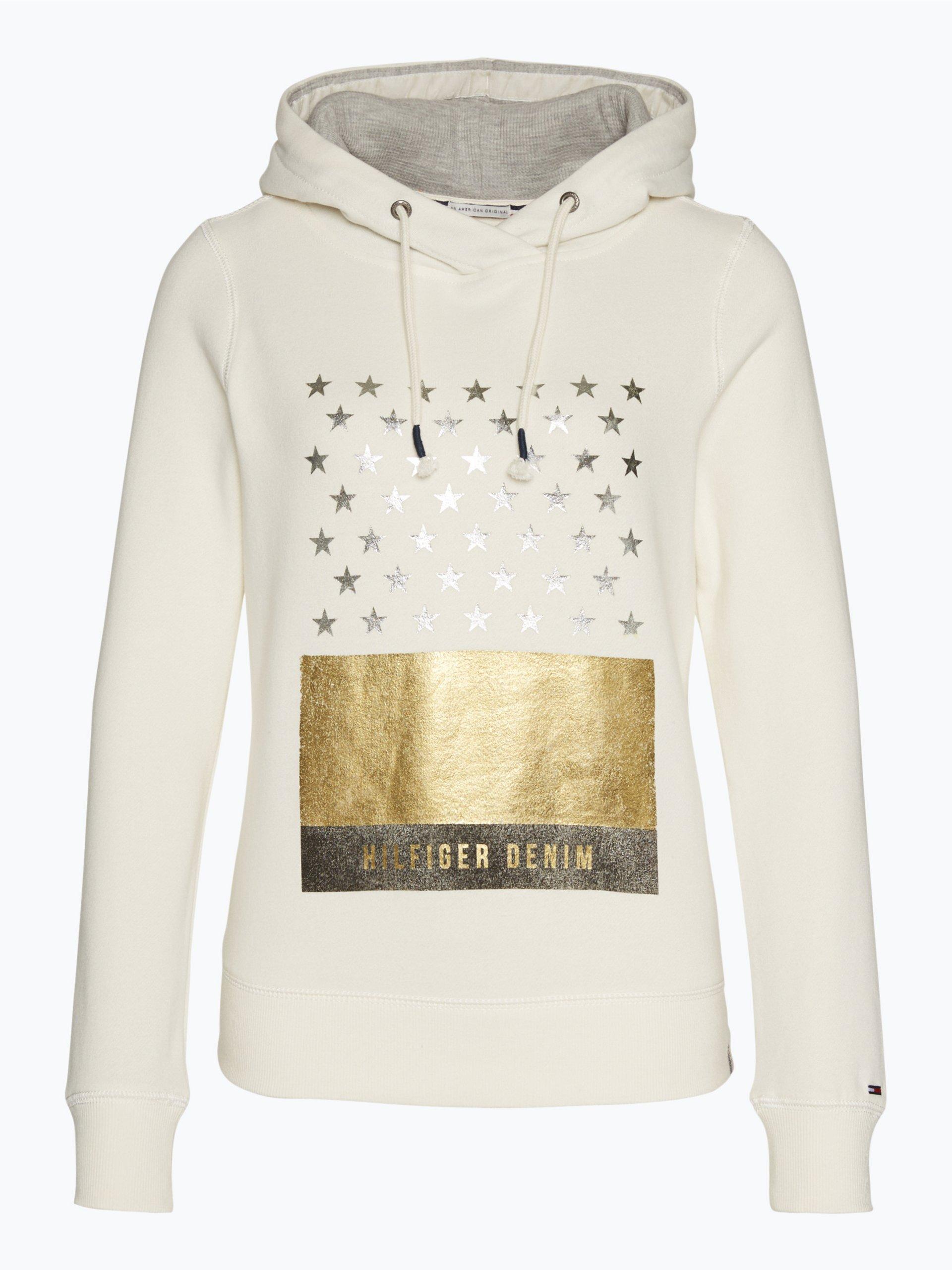 hilfiger denim damen sweatshirt ecru gemustert online. Black Bedroom Furniture Sets. Home Design Ideas