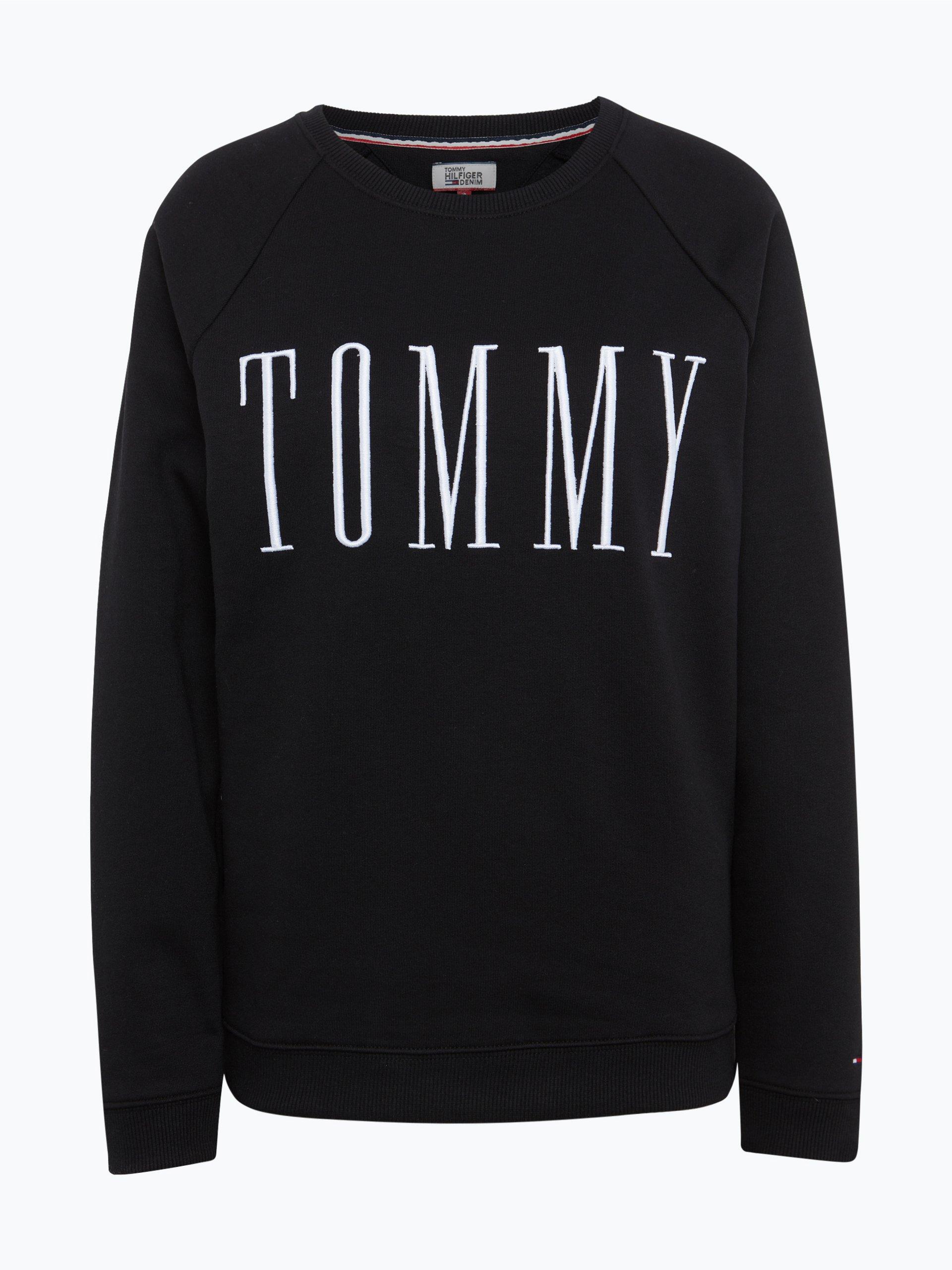 hilfiger denim damen sweatshirt schwarz uni online kaufen. Black Bedroom Furniture Sets. Home Design Ideas