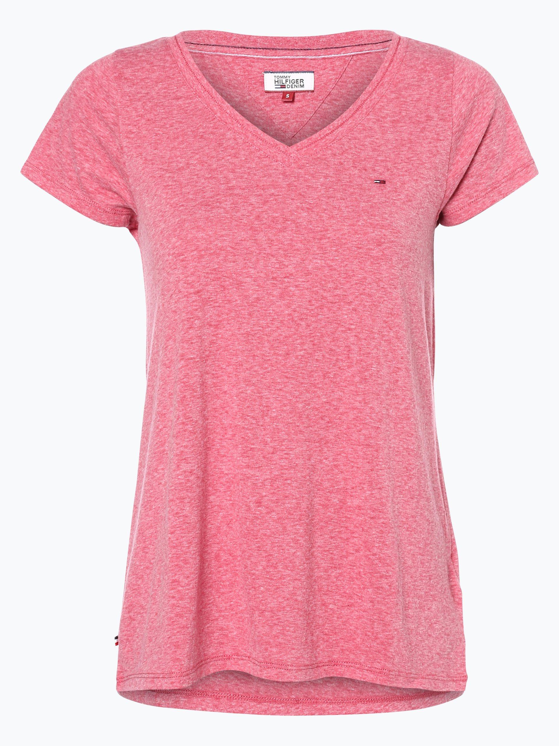 hilfiger denim damen t shirt rosa uni online kaufen peek. Black Bedroom Furniture Sets. Home Design Ideas