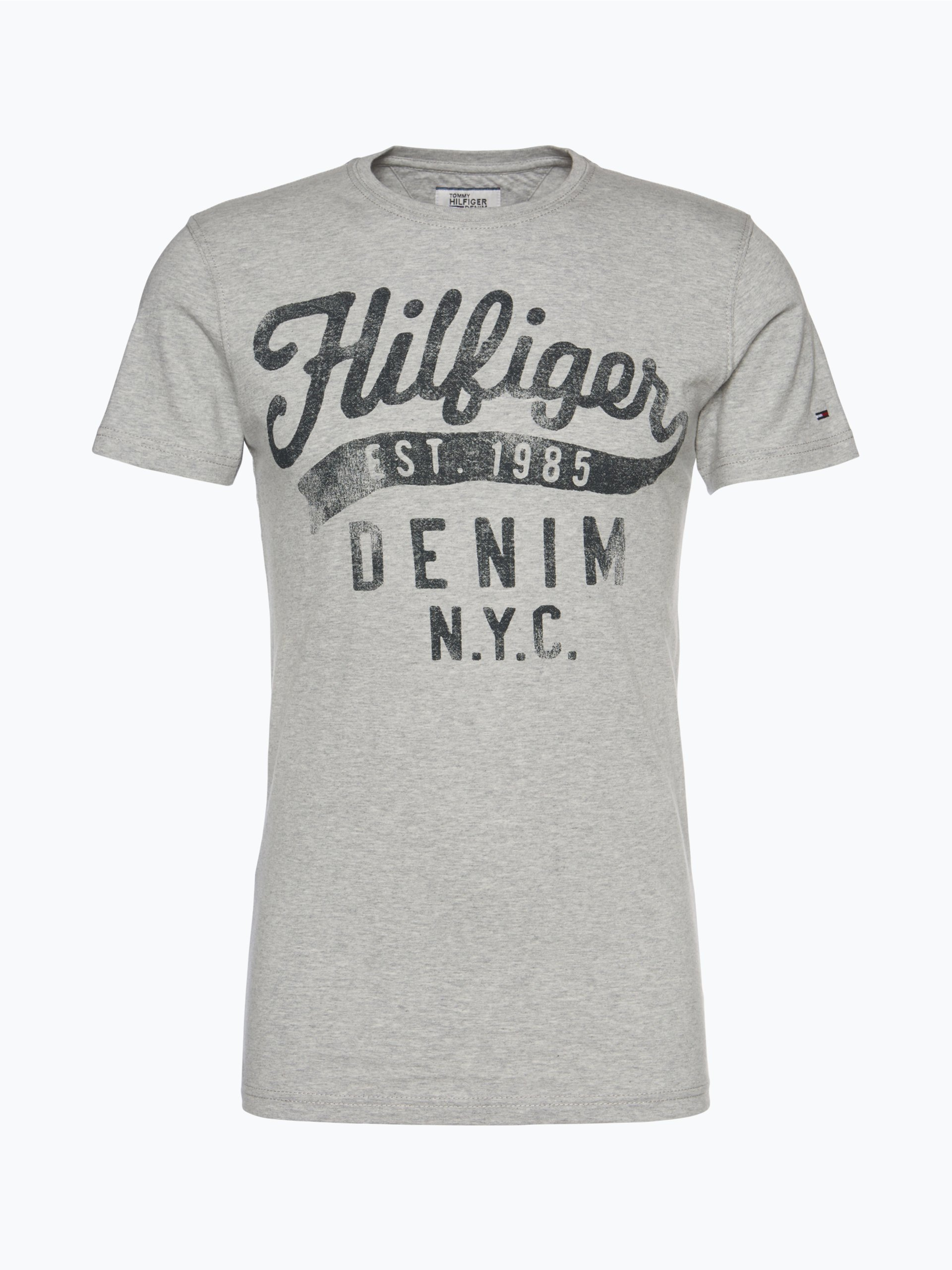 hilfiger denim herren t shirt grau gemustert online kaufen. Black Bedroom Furniture Sets. Home Design Ideas