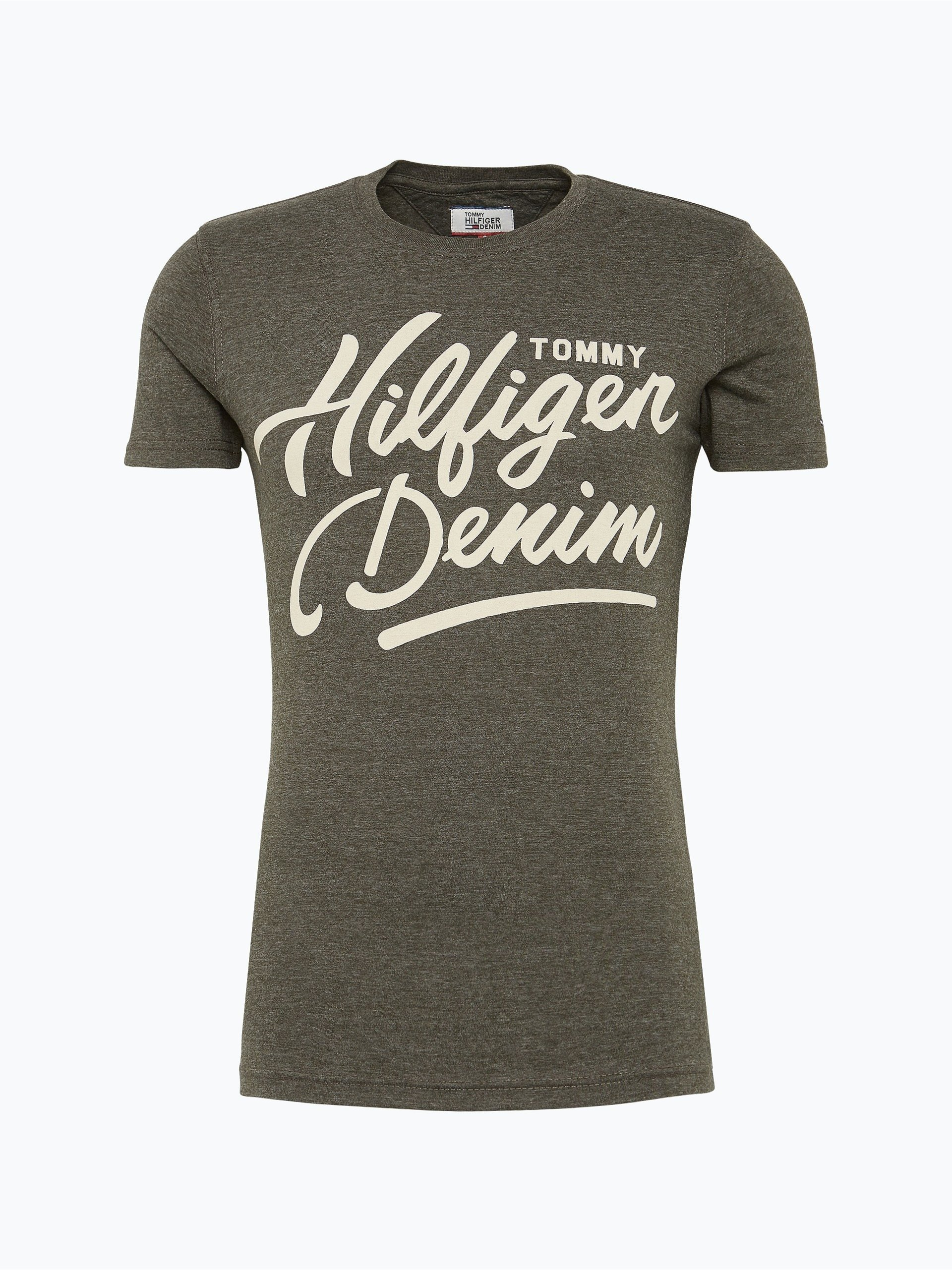 hilfiger denim herren t shirt oliv gemustert online kaufen. Black Bedroom Furniture Sets. Home Design Ideas