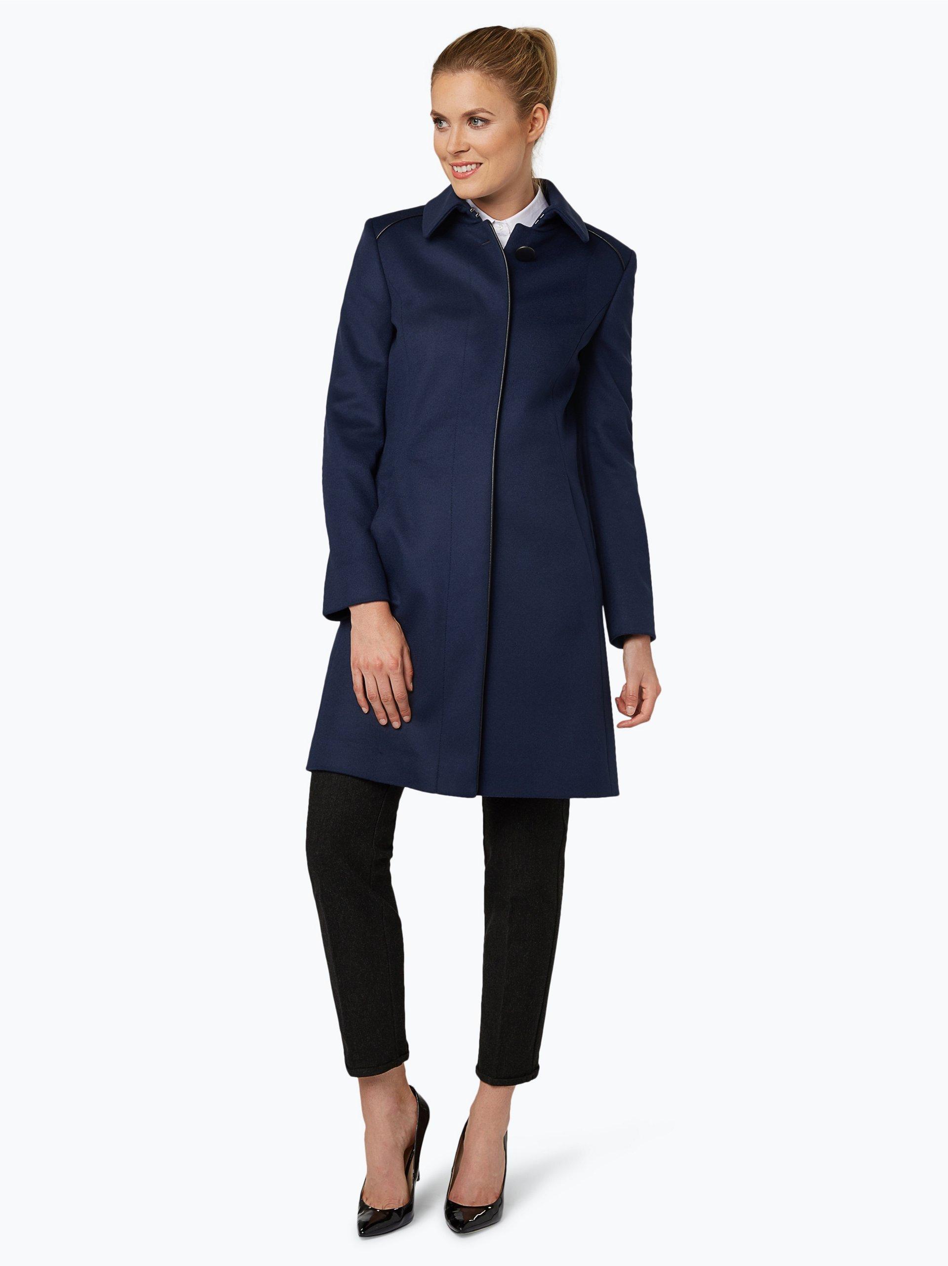 hugo damen mantel mit cashmere anteil malja marine uni online kaufen vangraaf com. Black Bedroom Furniture Sets. Home Design Ideas