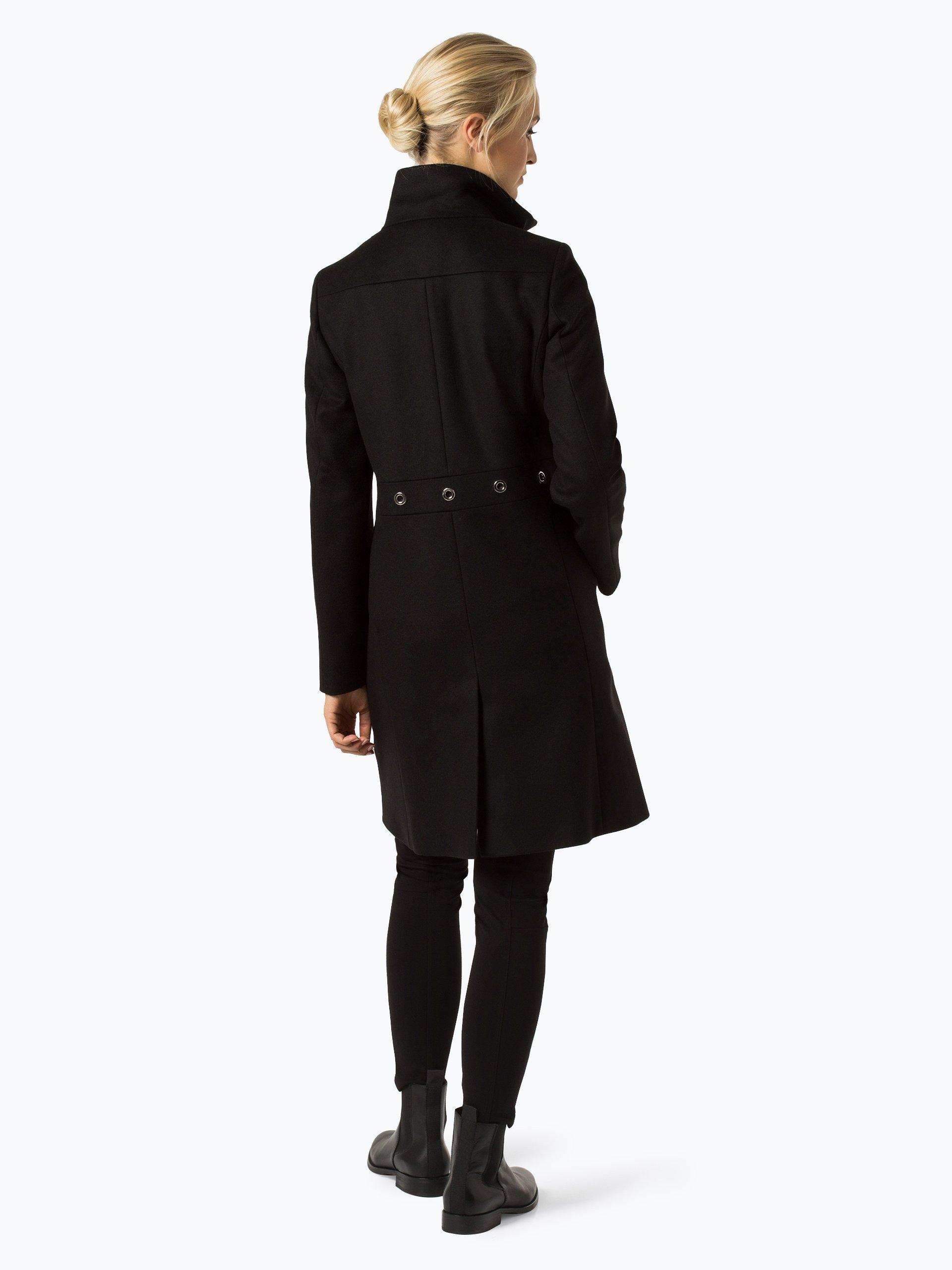 hugo damen mantel mit cashmere anteil merla schwarz uni online kaufen vangraaf com. Black Bedroom Furniture Sets. Home Design Ideas
