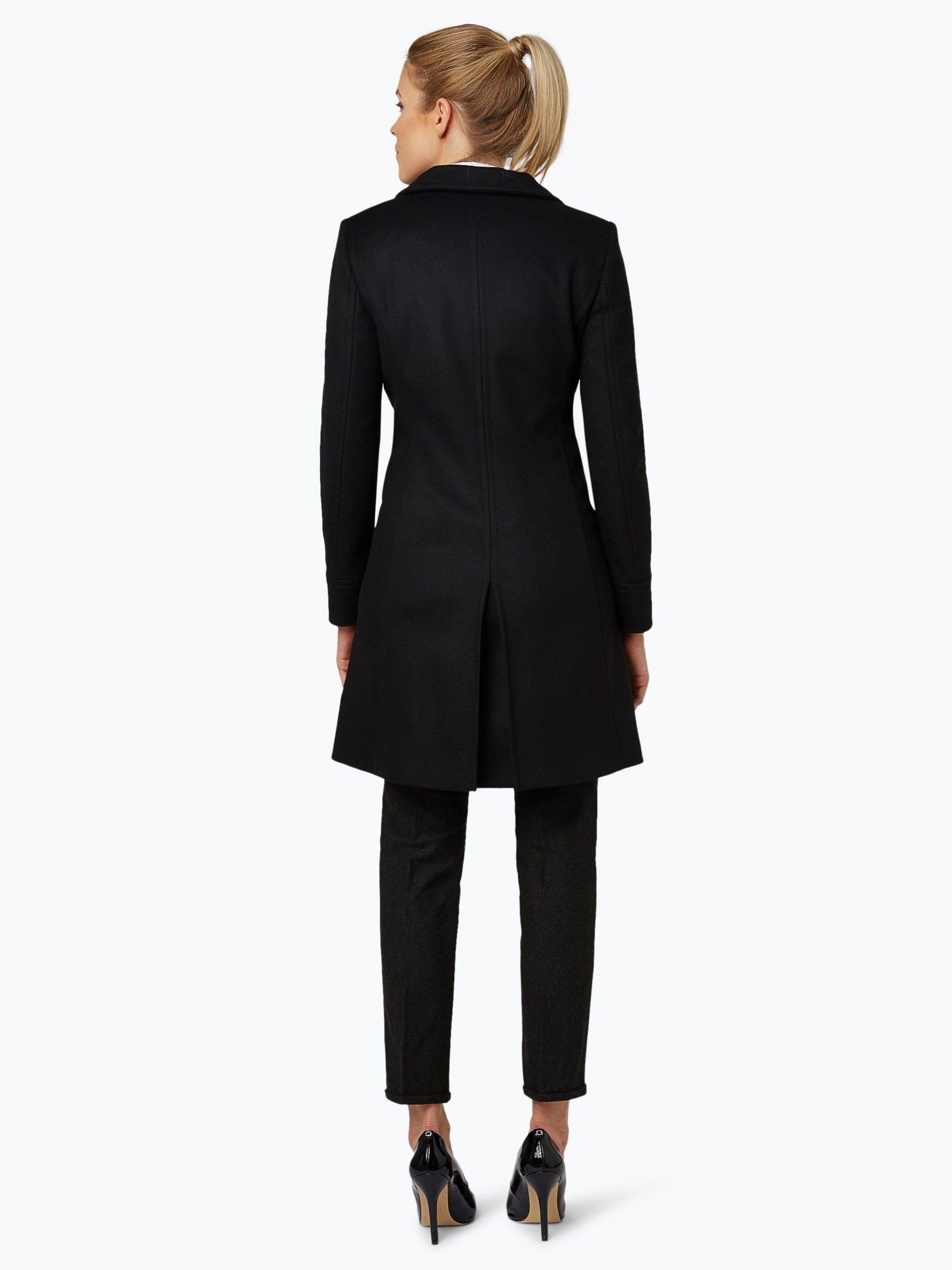 hugo damen mantel mit cashmere anteil mibelli schwarz uni online kaufen peek und cloppenburg de. Black Bedroom Furniture Sets. Home Design Ideas