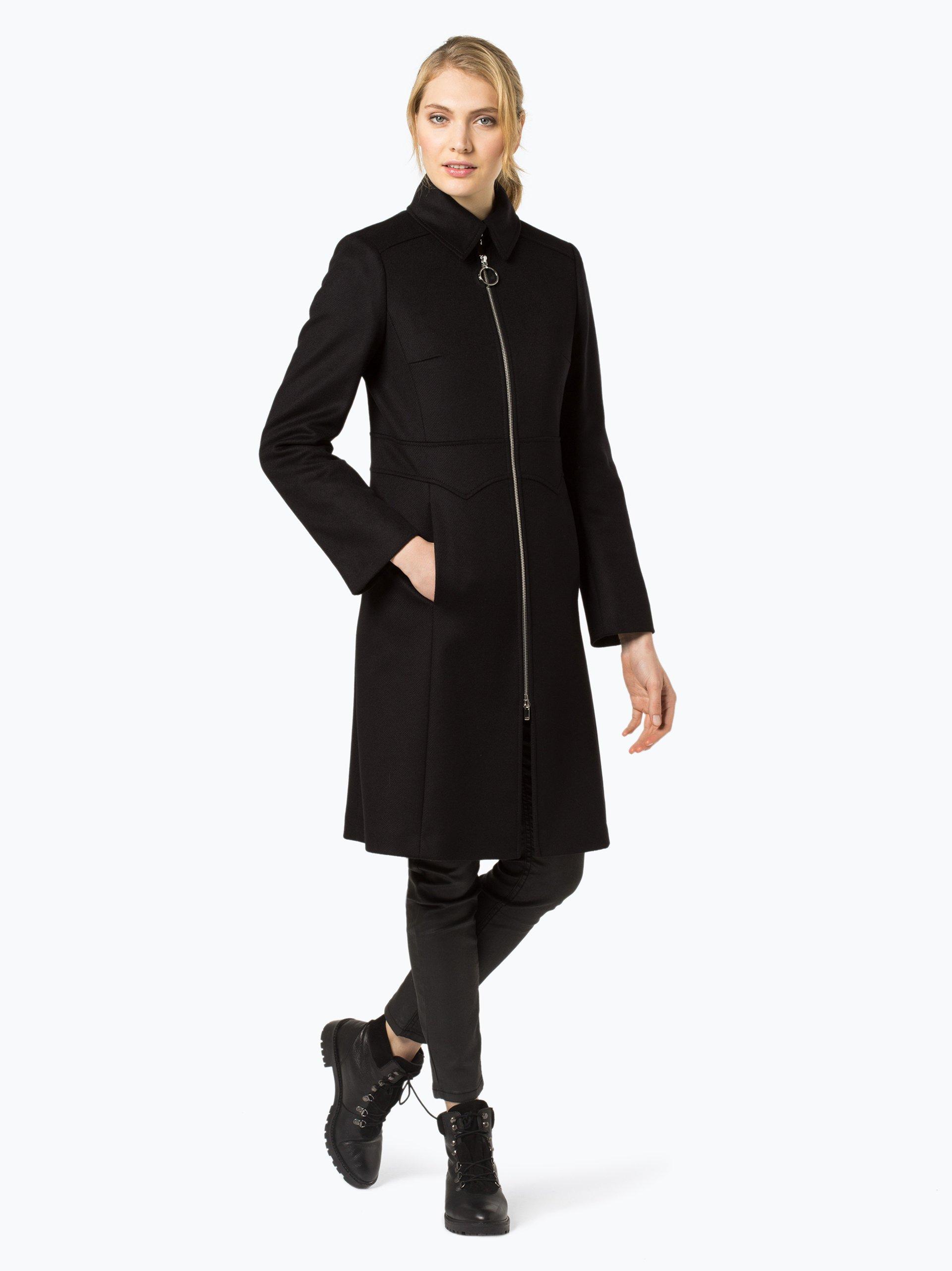 hugo damen mantel mit cashmere anteil misara schwarz uni online kaufen peek und cloppenburg de. Black Bedroom Furniture Sets. Home Design Ideas