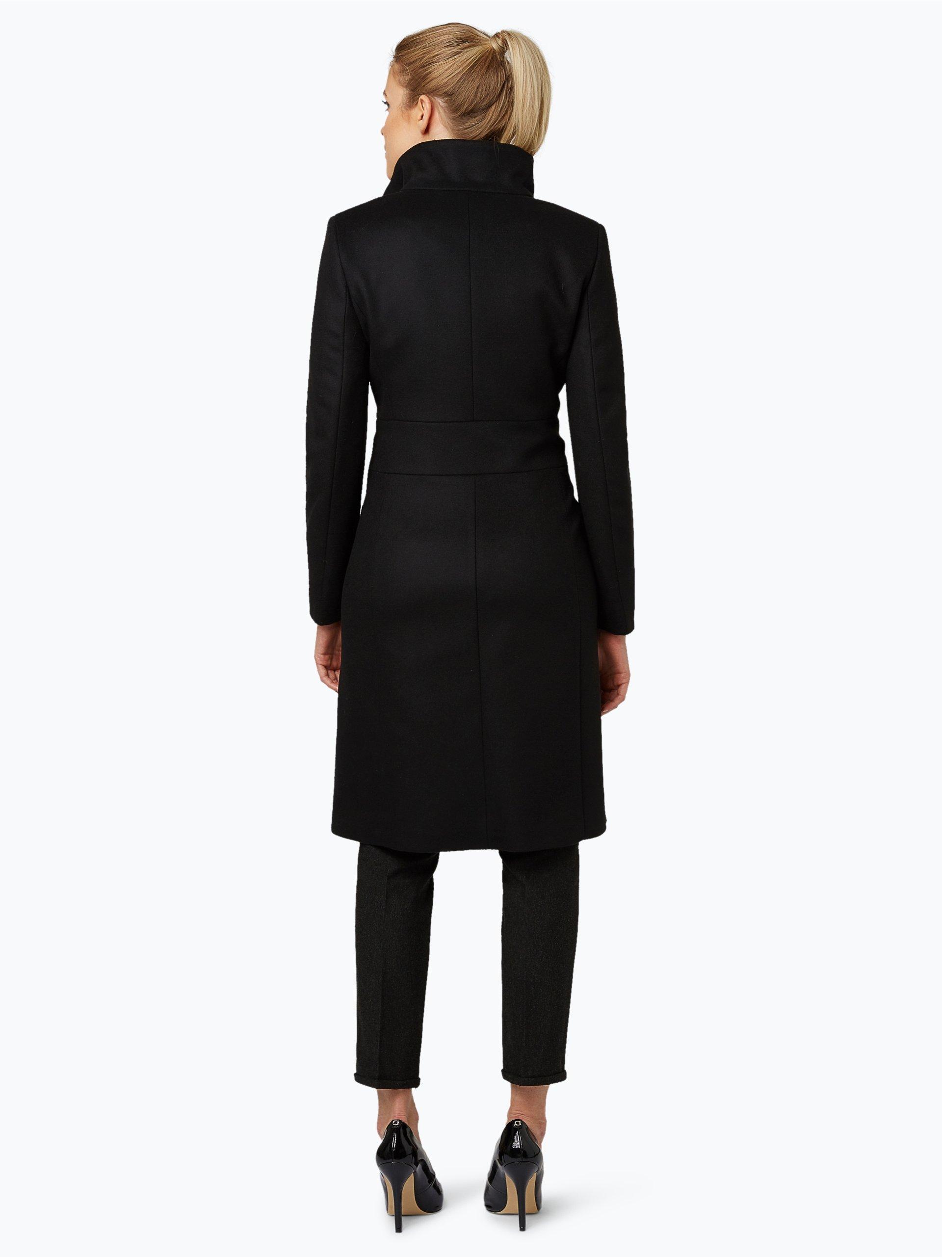 hugo damen mantel mit cashmere anteil mivana schwarz uni online kaufen vangraaf com. Black Bedroom Furniture Sets. Home Design Ideas