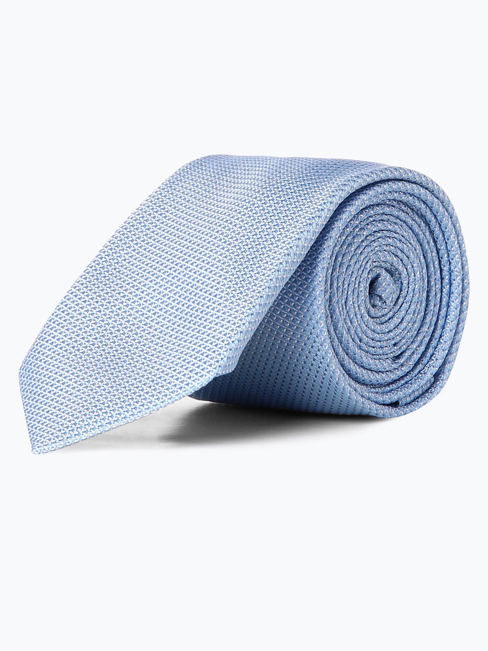 hugo herren krawatte aus seide hellblau gemustert online kaufen vangraaf com. Black Bedroom Furniture Sets. Home Design Ideas