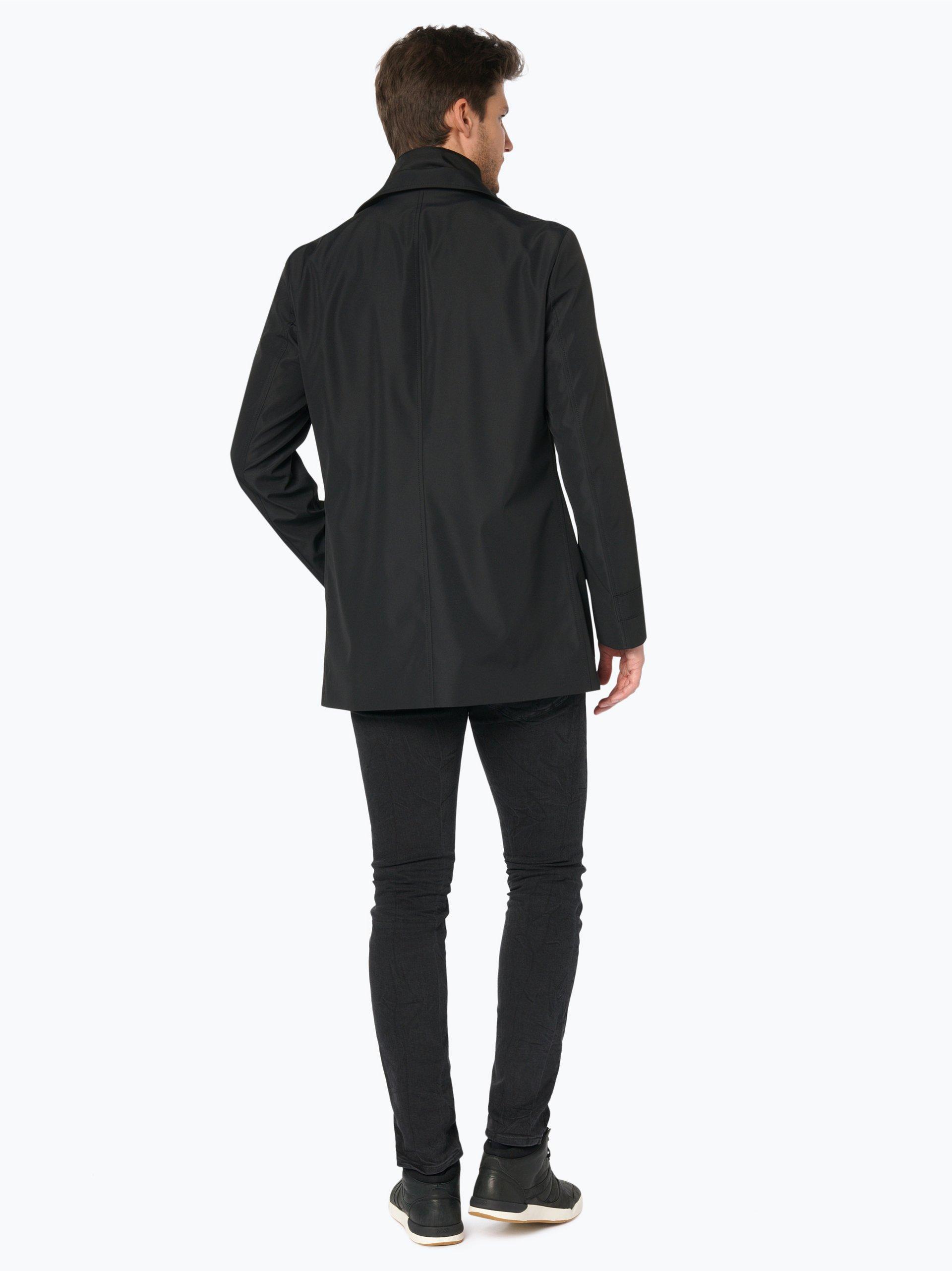 hugo herren mantel barelto3 schwarz uni online kaufen. Black Bedroom Furniture Sets. Home Design Ideas
