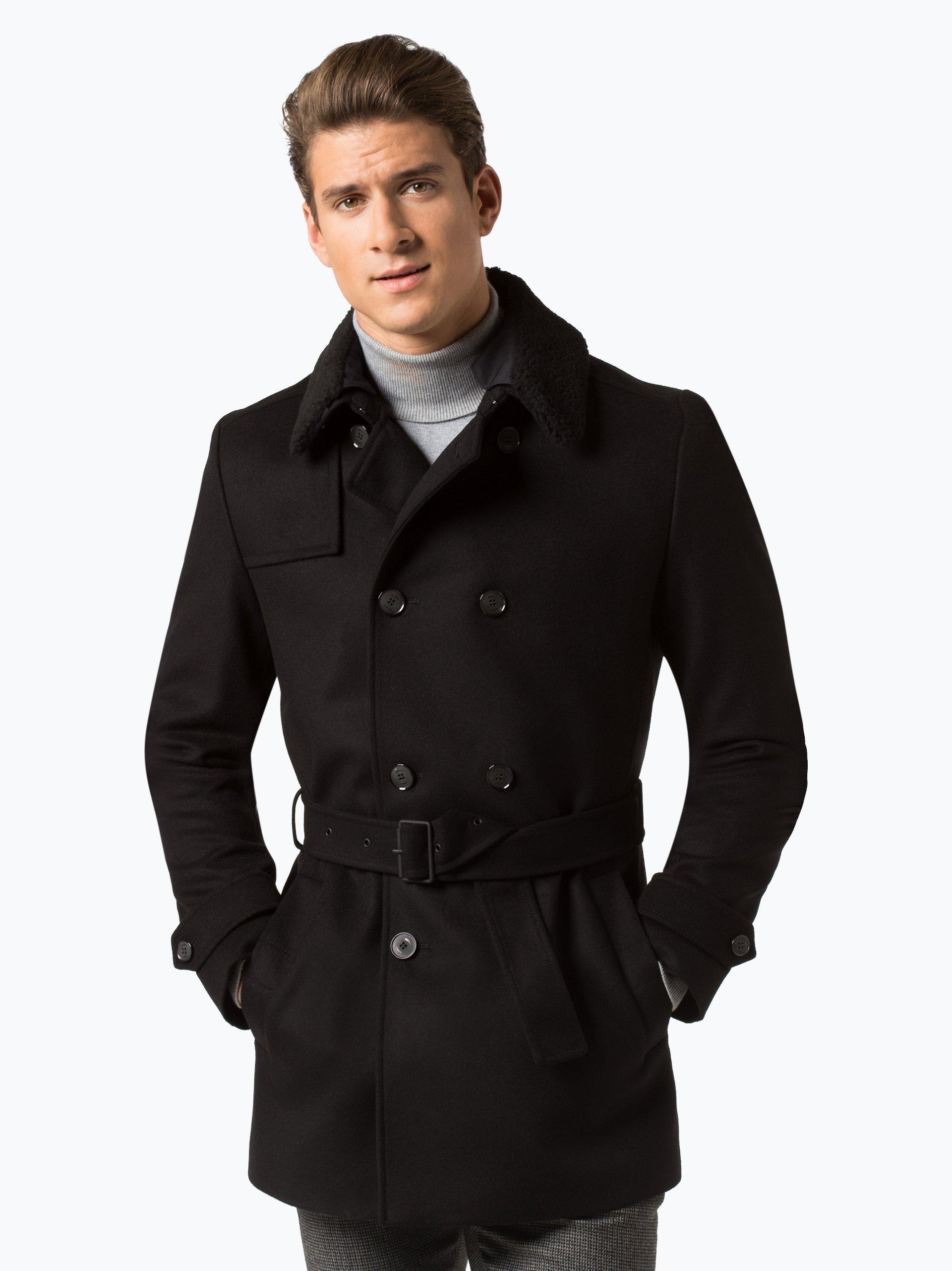 hugo herren mantel mit cashmere anteil maluks1842 online. Black Bedroom Furniture Sets. Home Design Ideas
