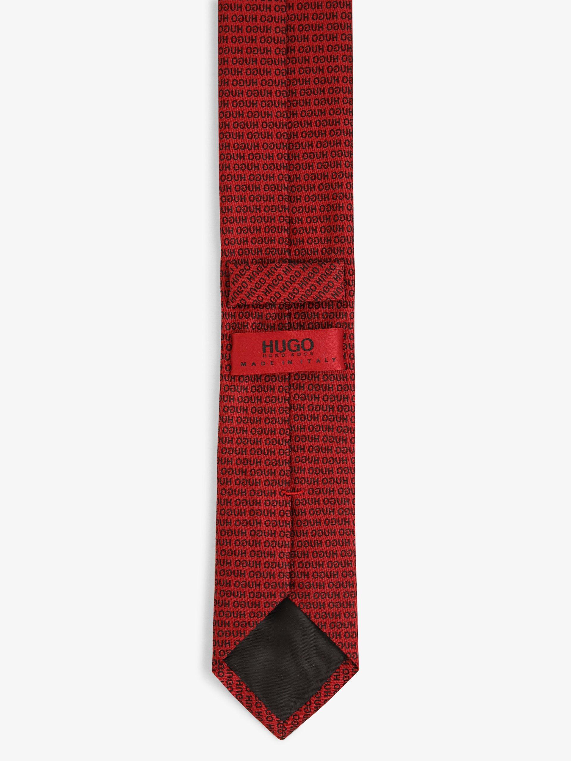 HUGO Krawat jedwabny męski