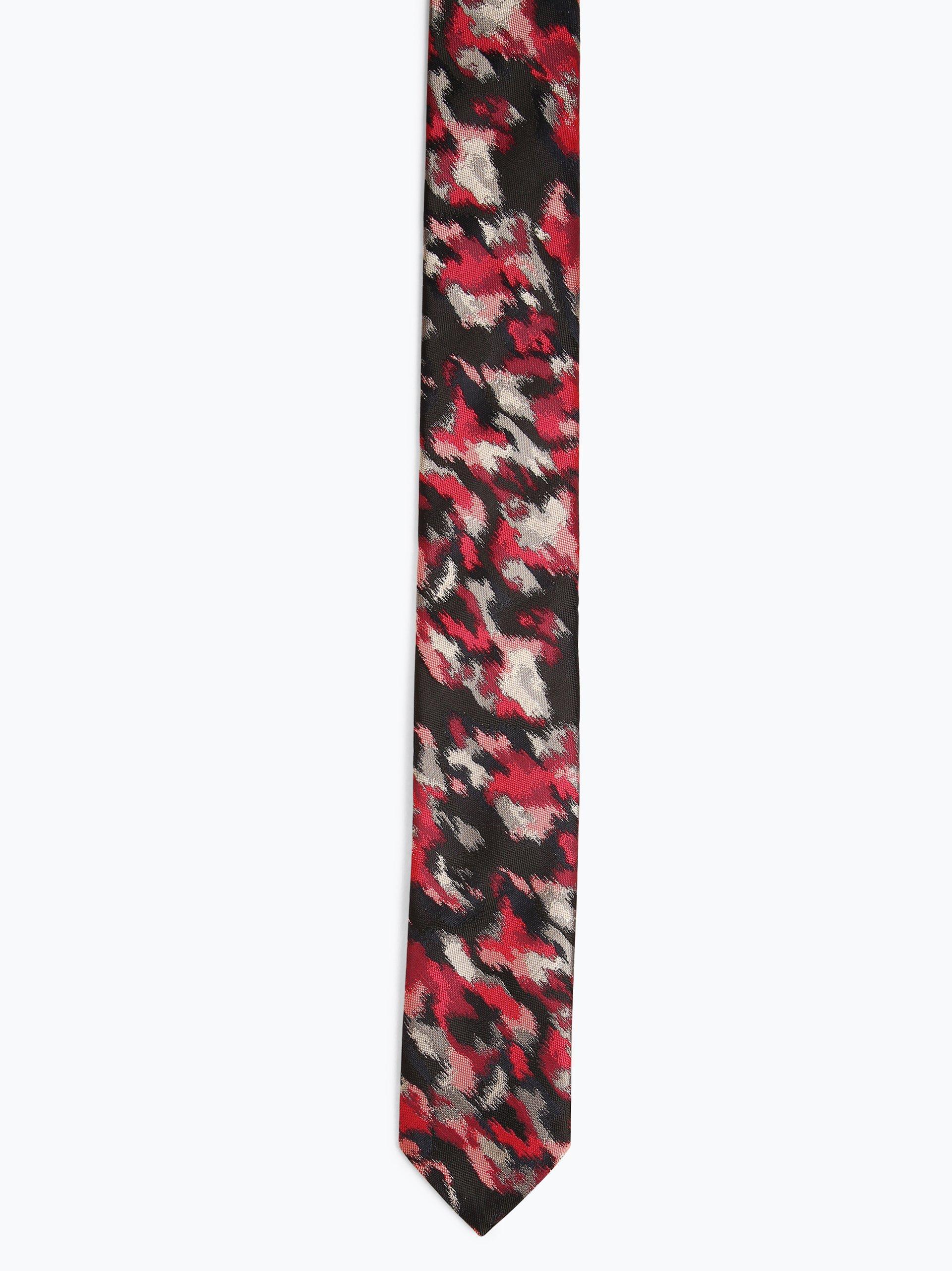 HUGO Krawat męski z dodatkiem jedwabiu – Tie 6 cm