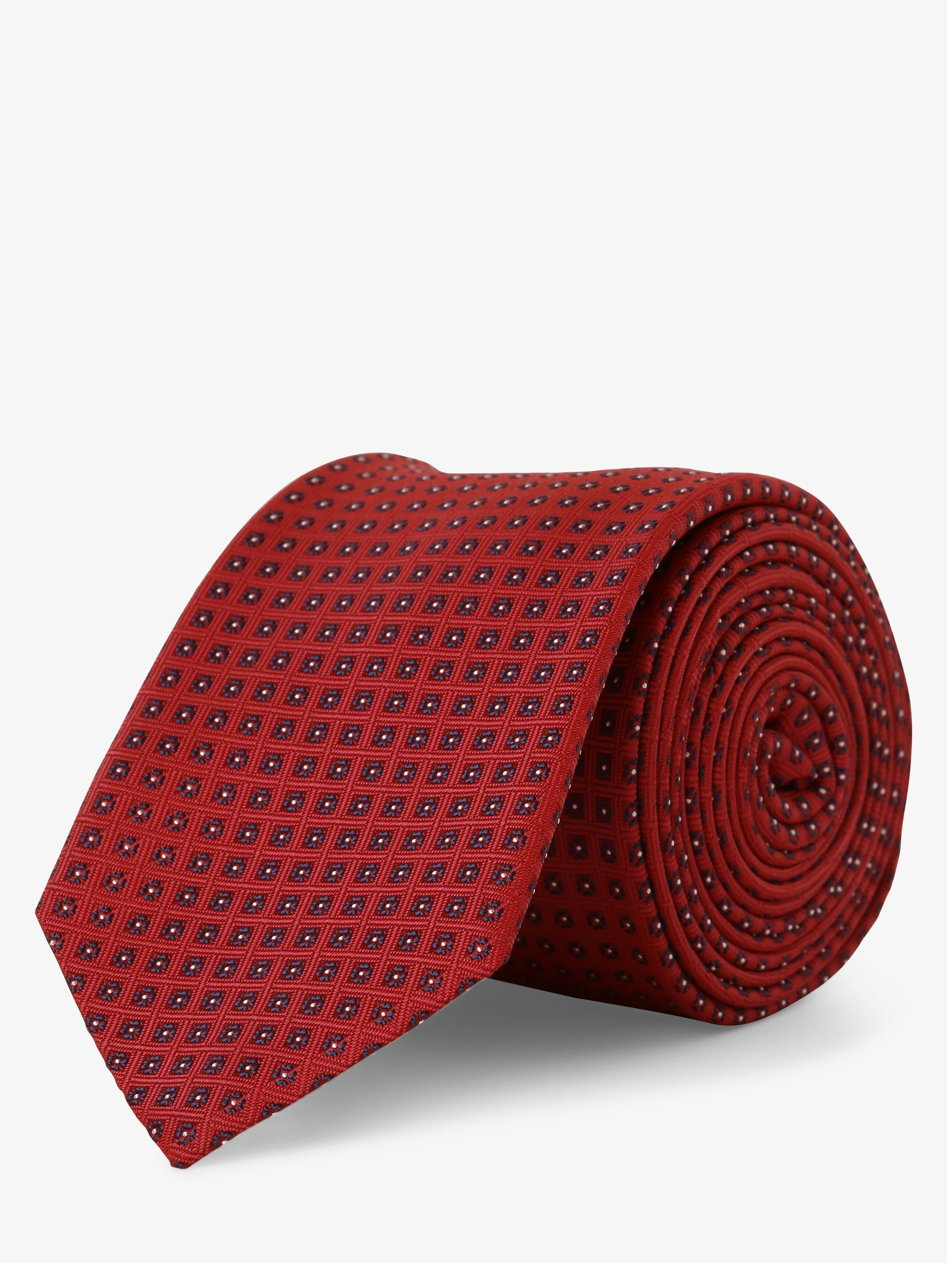 HUGO Krawat męski z dodatkiem jedwabiu