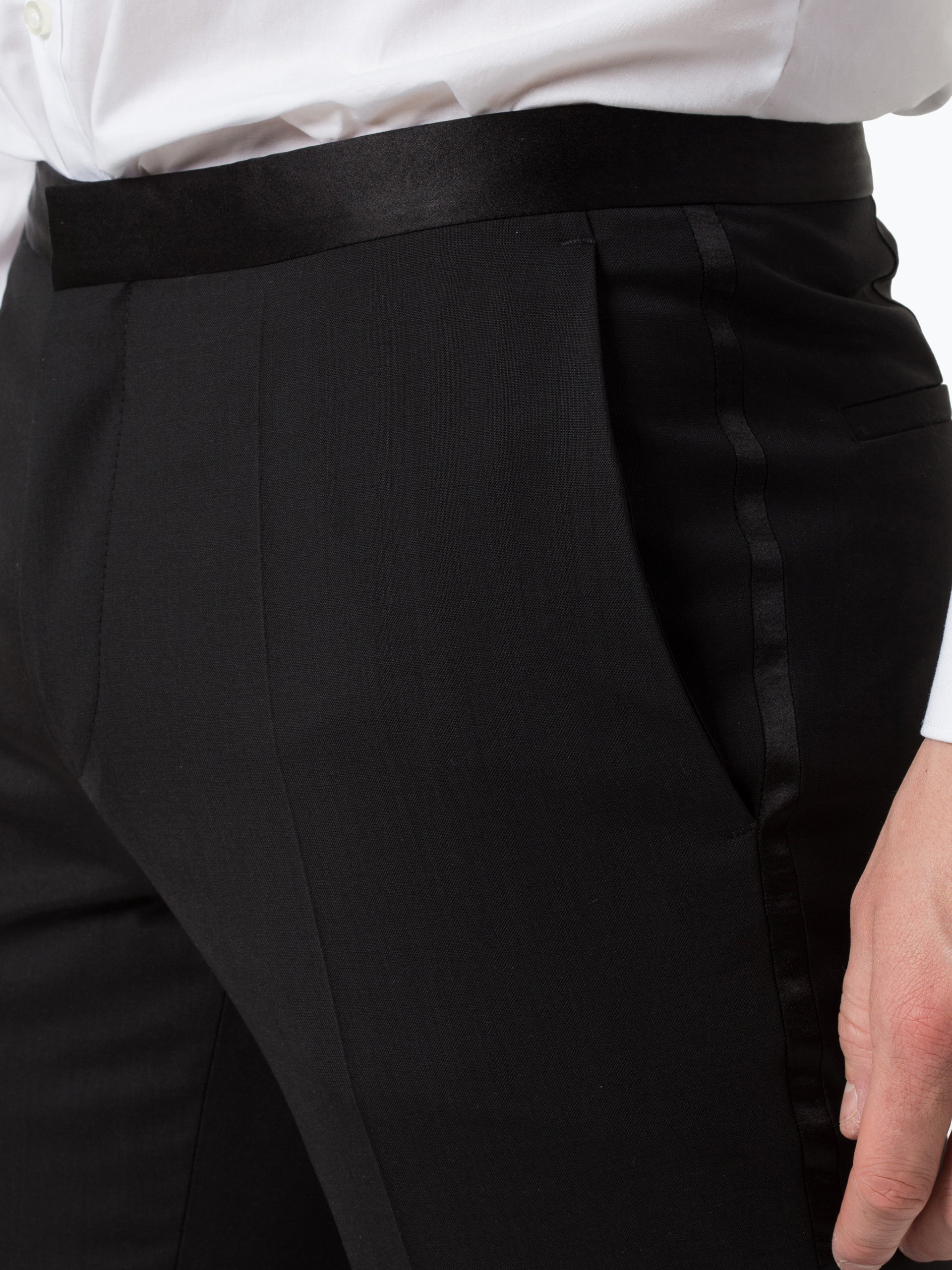 HUGO Męskie spodnie od garnituru modułowego z dodatkiem jedwabiu – HetonS