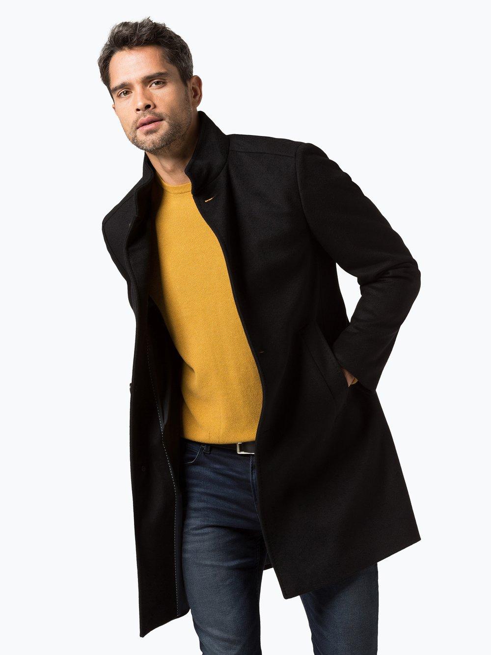 Review herren mantel schwarz