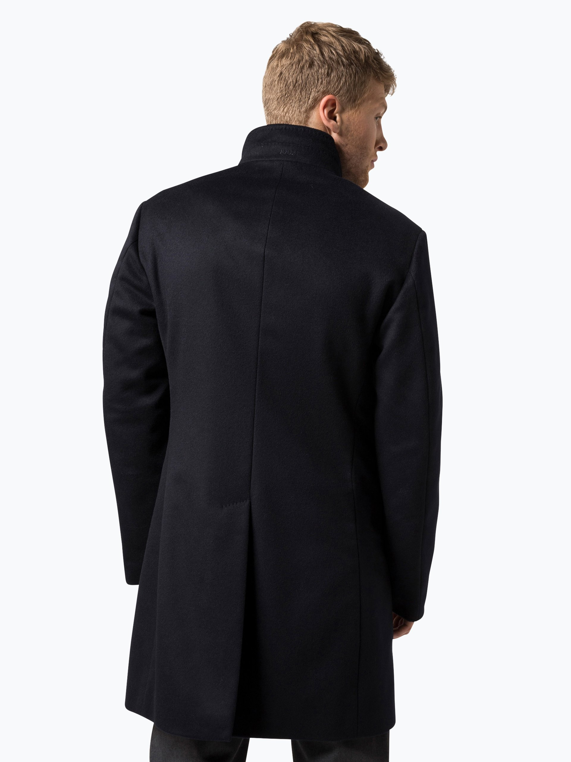 joop herren mantel mit cashmere anteil marine uni online. Black Bedroom Furniture Sets. Home Design Ideas