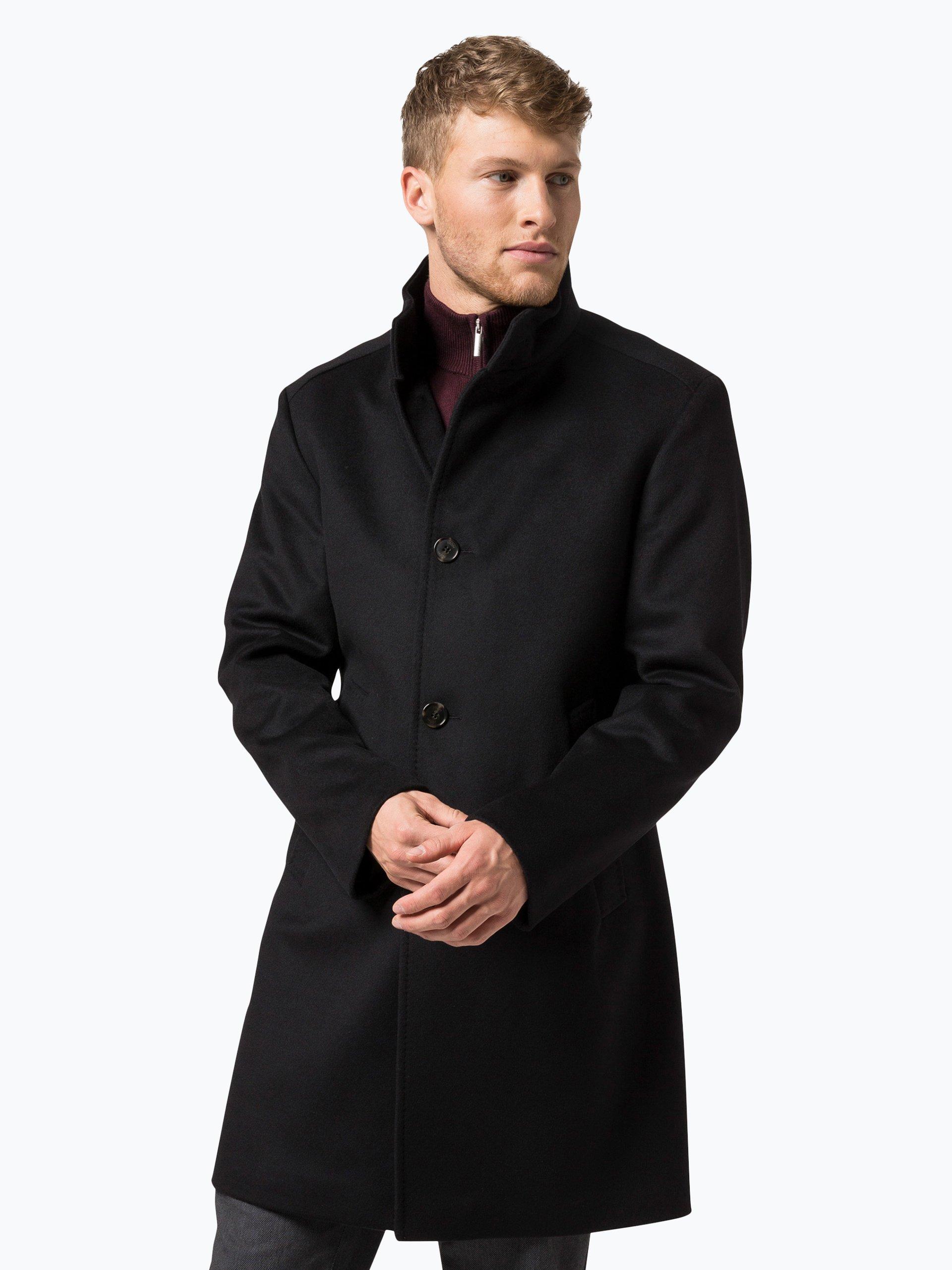 joop herren mantel mit cashmere anteil schwarz uni online. Black Bedroom Furniture Sets. Home Design Ideas