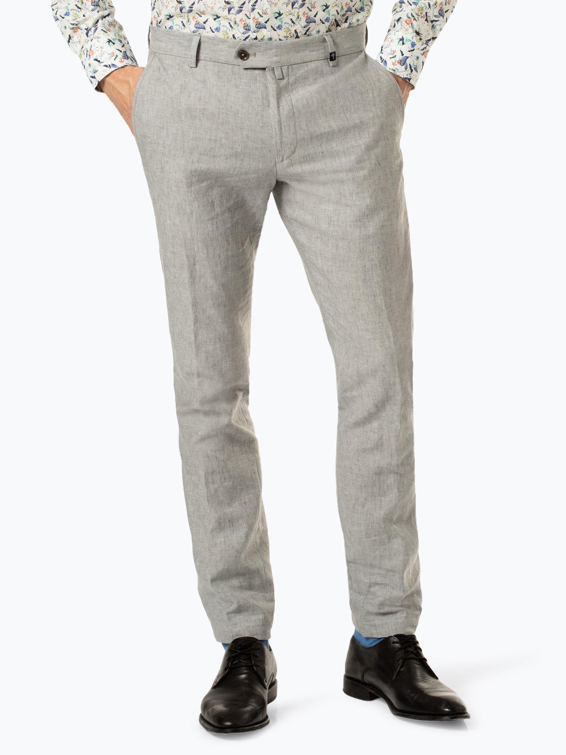 Joop Męskie spodnie od garnituru modułowego z dodatkiem lnu – Hank