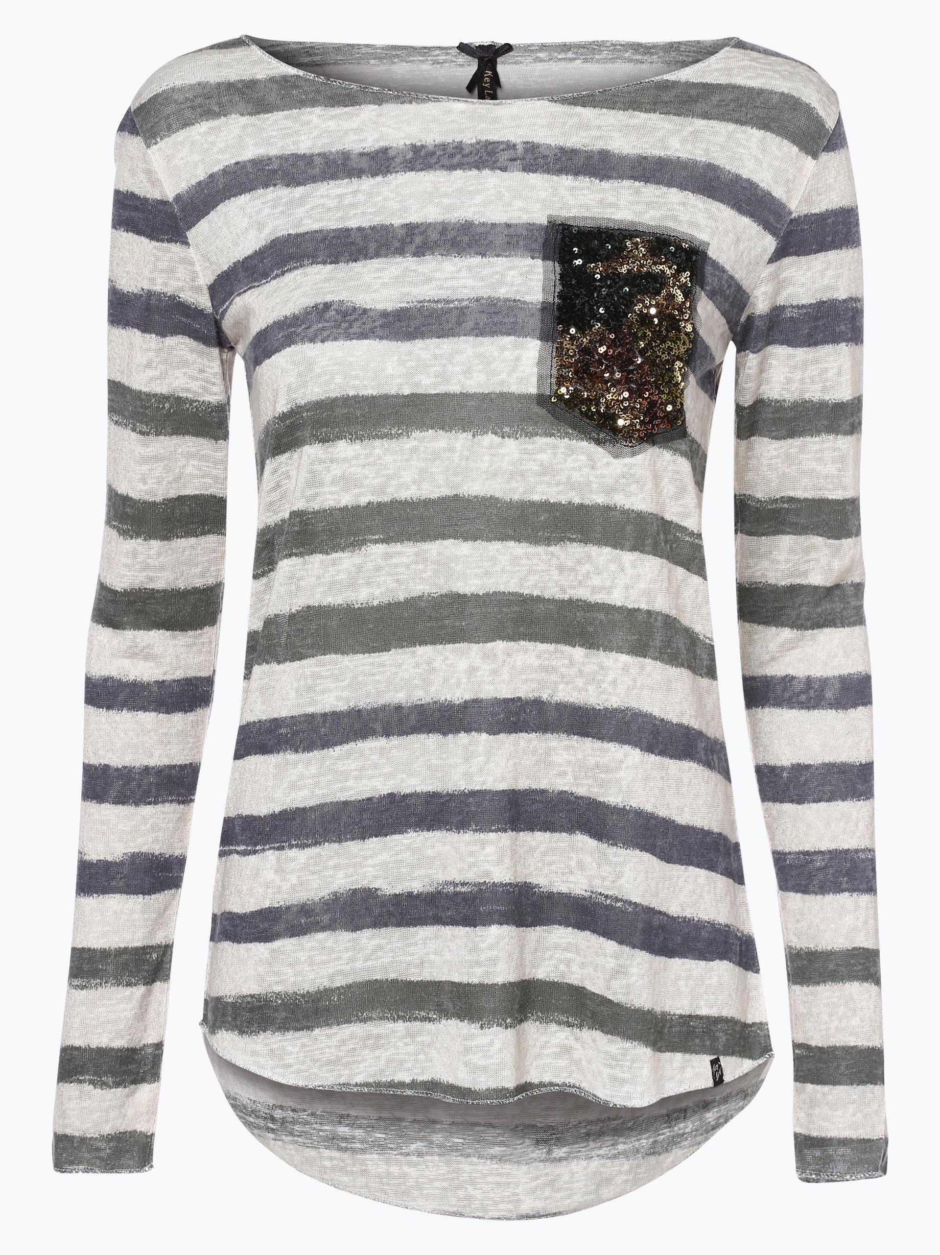 key largo damen langarmshirt grau gestreift online kaufen peek und cloppenburg de. Black Bedroom Furniture Sets. Home Design Ideas