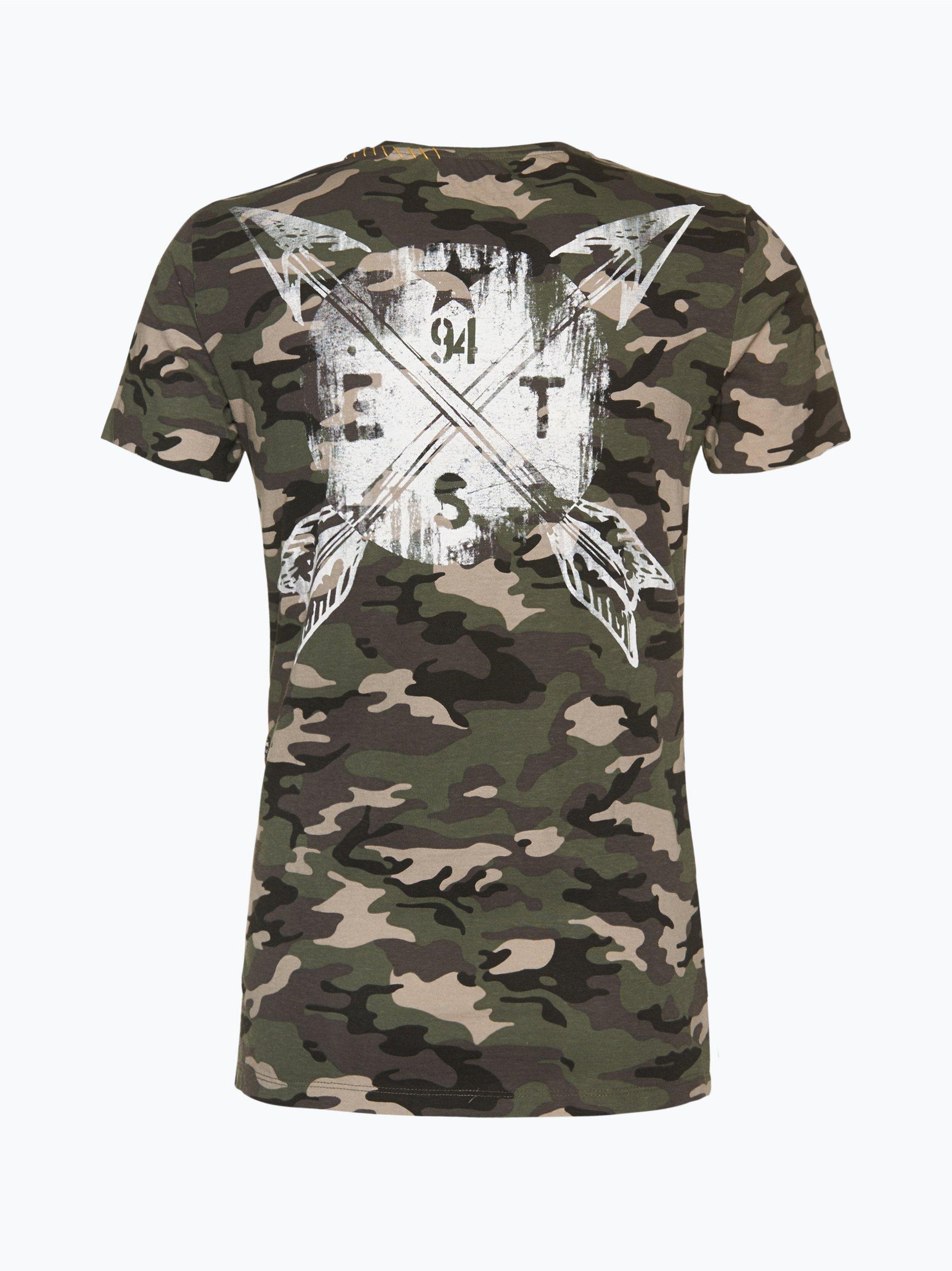 Key Largo Herren T Shirt St Louis Tanne Gemustert