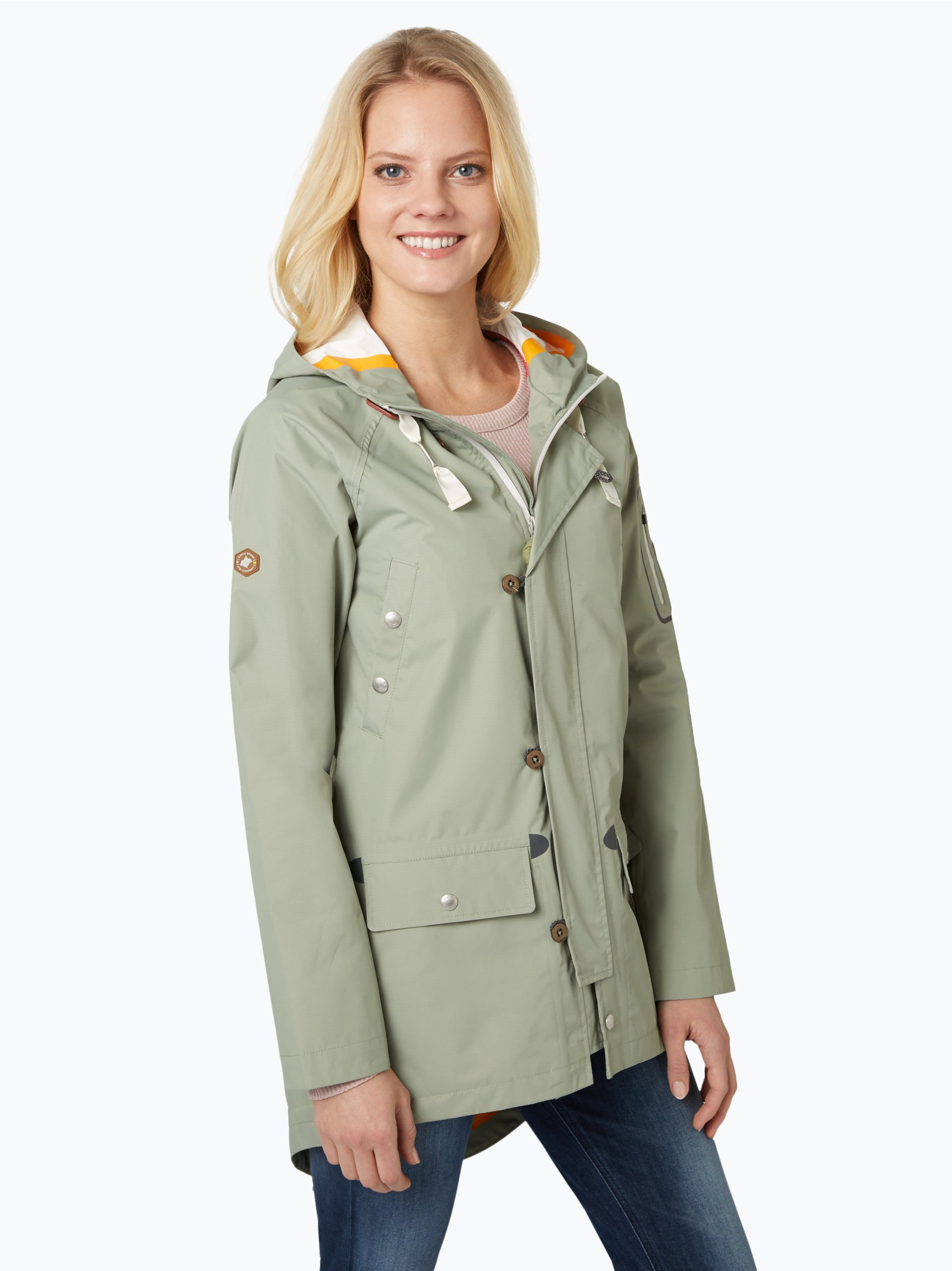 Khujo damen winterjacke chantal india mix olive