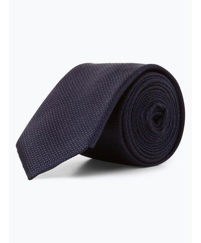 Krawat jedwabny męski ze spinką