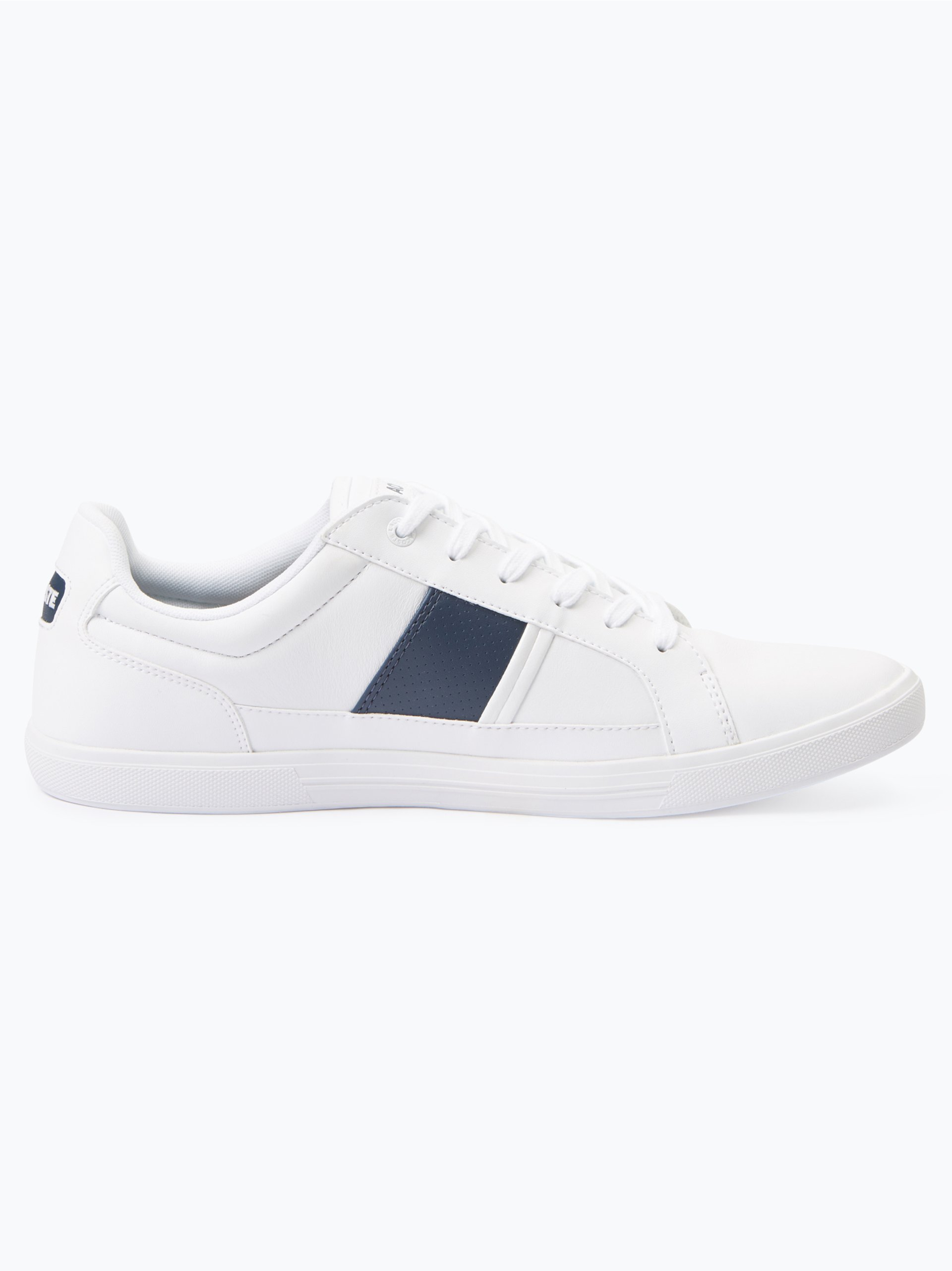 lacoste herren sneaker mit leder anteil wei uni online. Black Bedroom Furniture Sets. Home Design Ideas