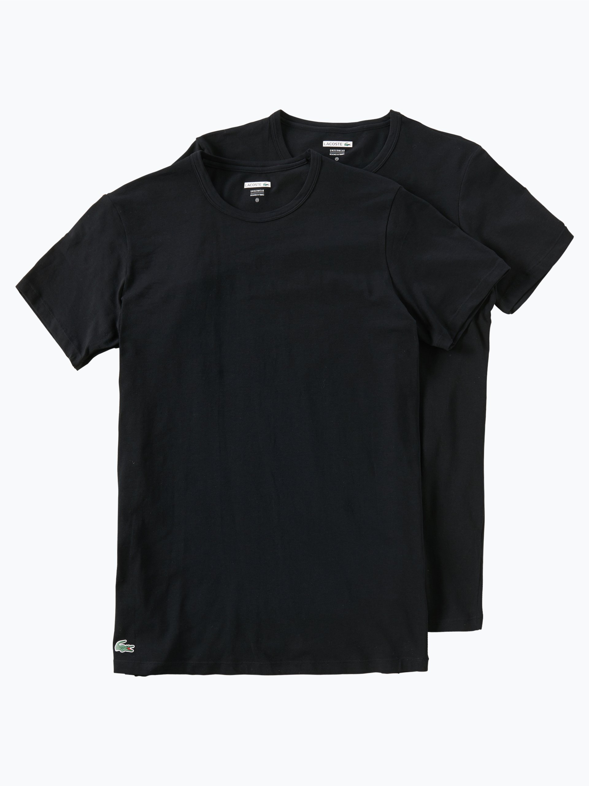 lacoste herren t shirt im 2er pack schwarz uni online. Black Bedroom Furniture Sets. Home Design Ideas