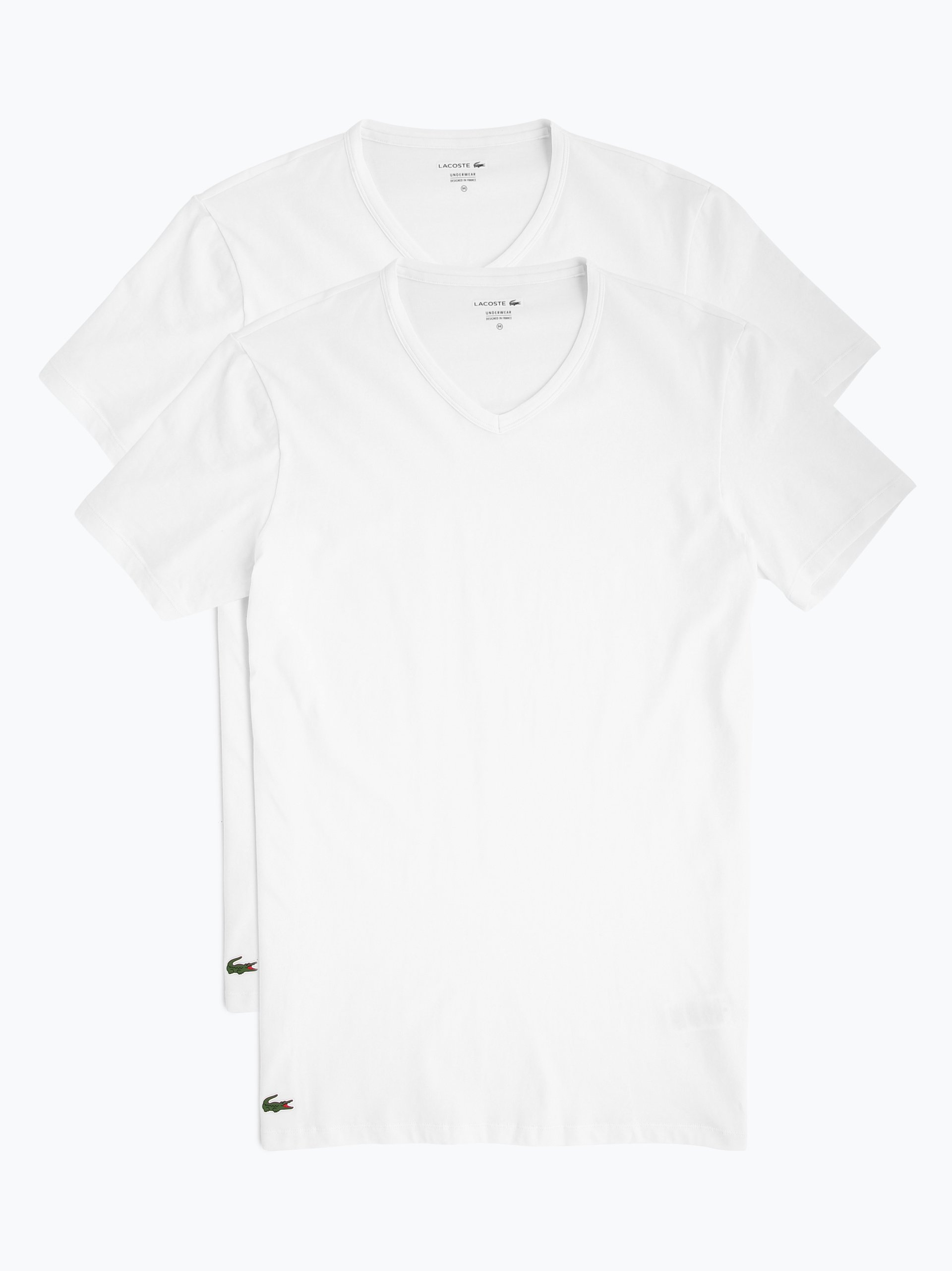 Lacoste T-shirty męskie pakowane po 2 szt.