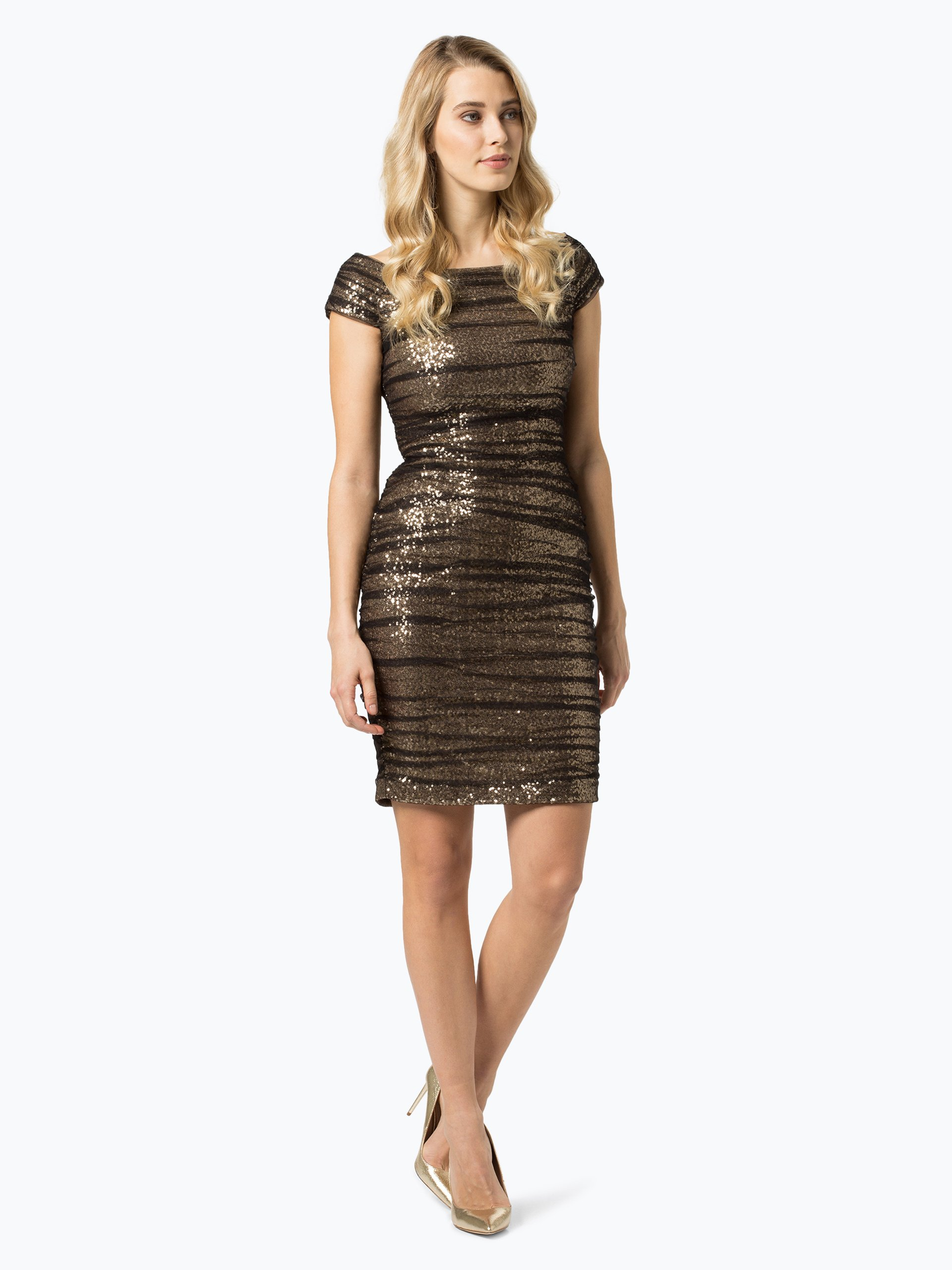 lauren ralph lauren damen kleid gold schwarz gemustert online kaufen peek und cloppenburg de. Black Bedroom Furniture Sets. Home Design Ideas