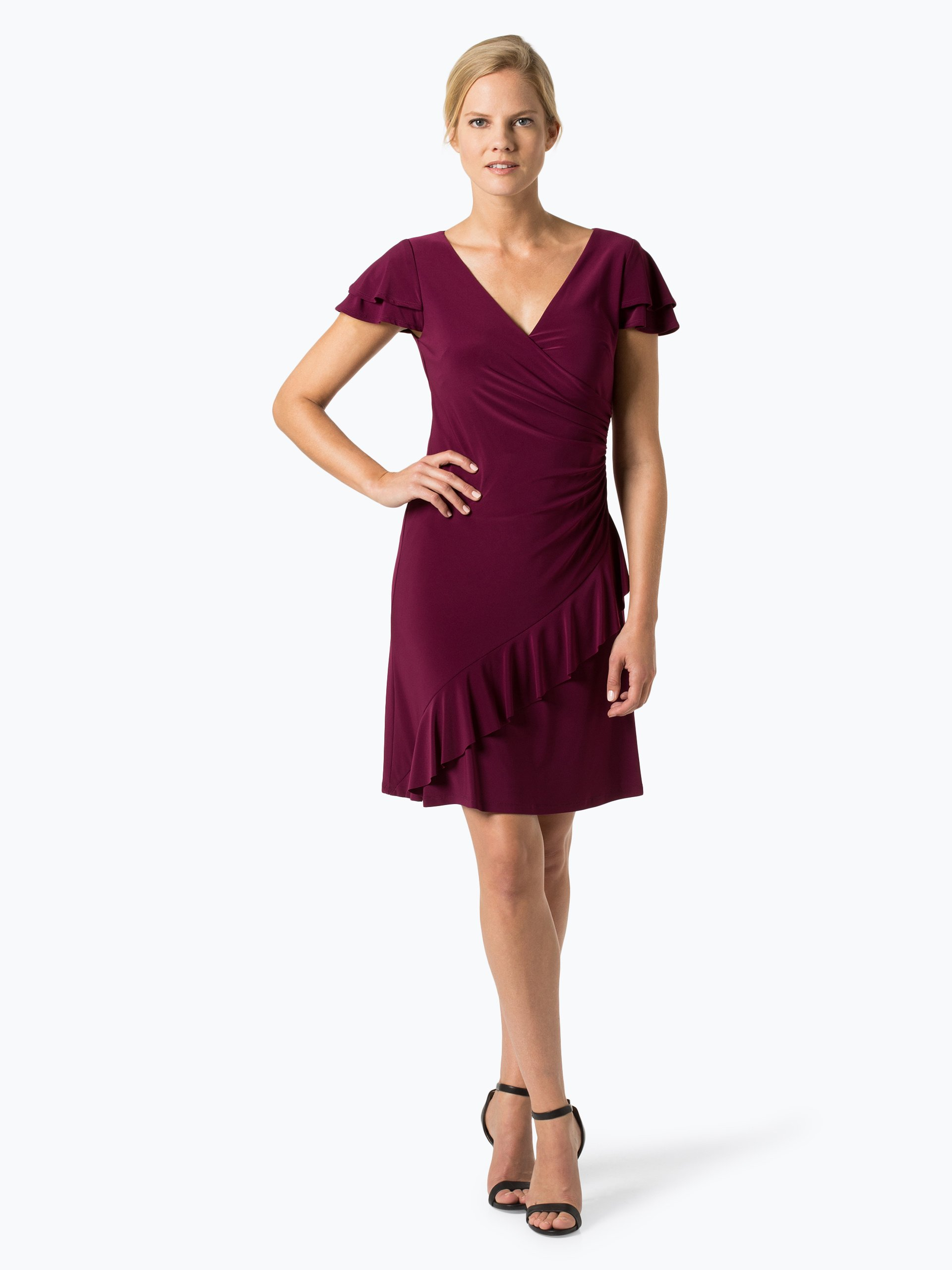 lauren ralph lauren damen kleid bordeaux uni online kaufen vangraaf com. Black Bedroom Furniture Sets. Home Design Ideas