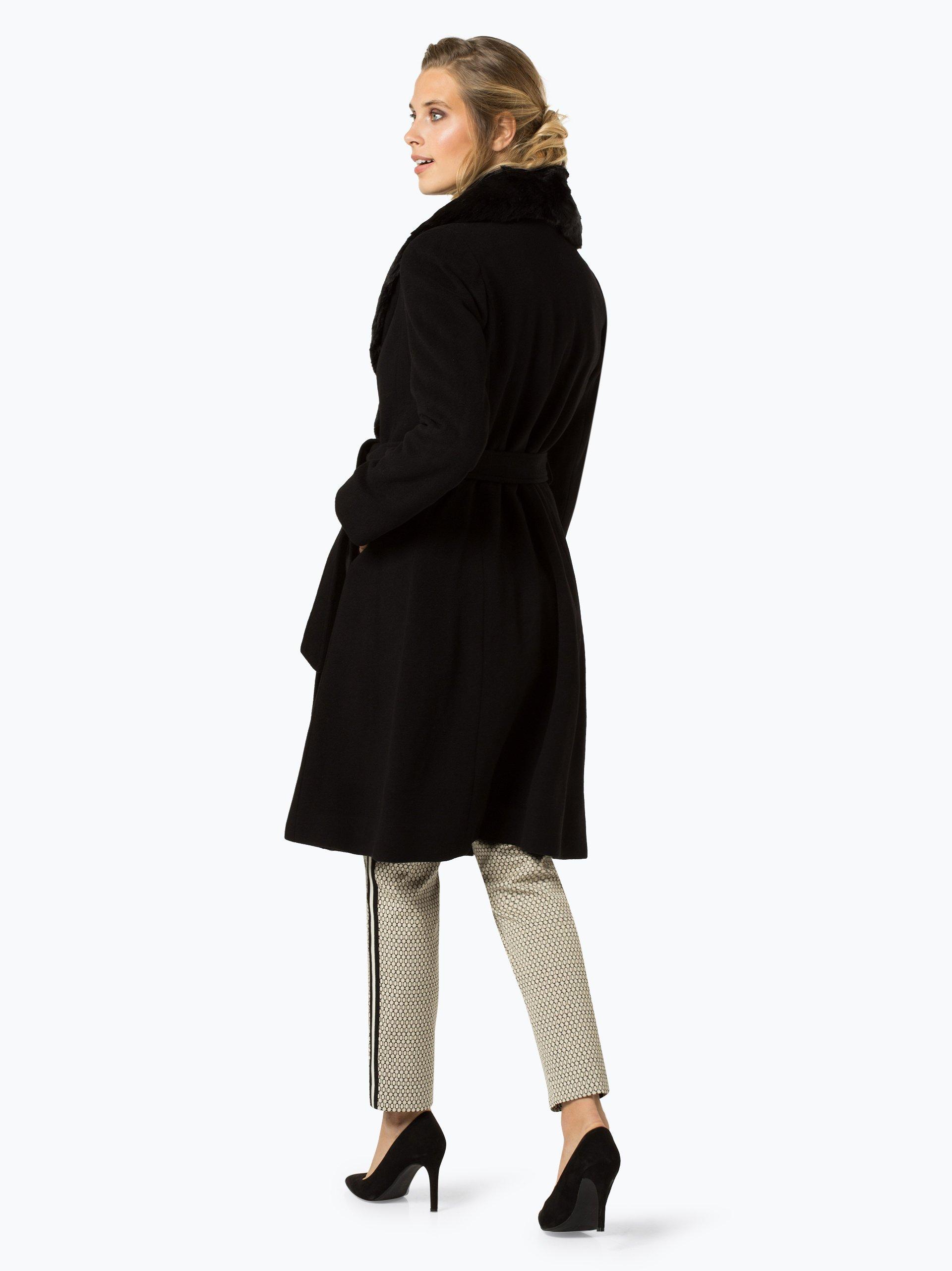 lauren ralph lauren damen mantel mit cashmere anteil schwarz uni online kaufen peek und. Black Bedroom Furniture Sets. Home Design Ideas