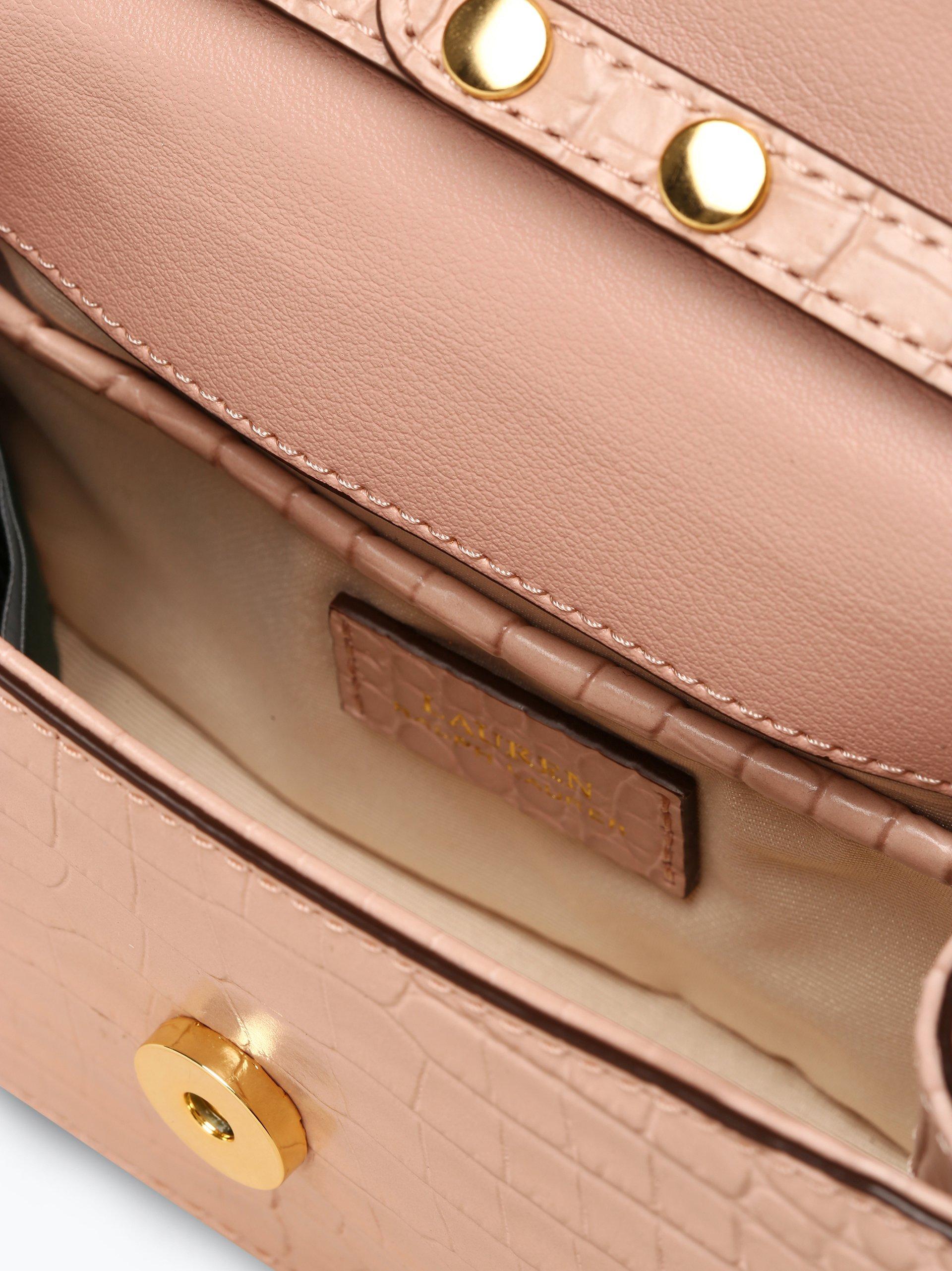Lauren Ralph Lauren Damen Umhängetasche aus Leder