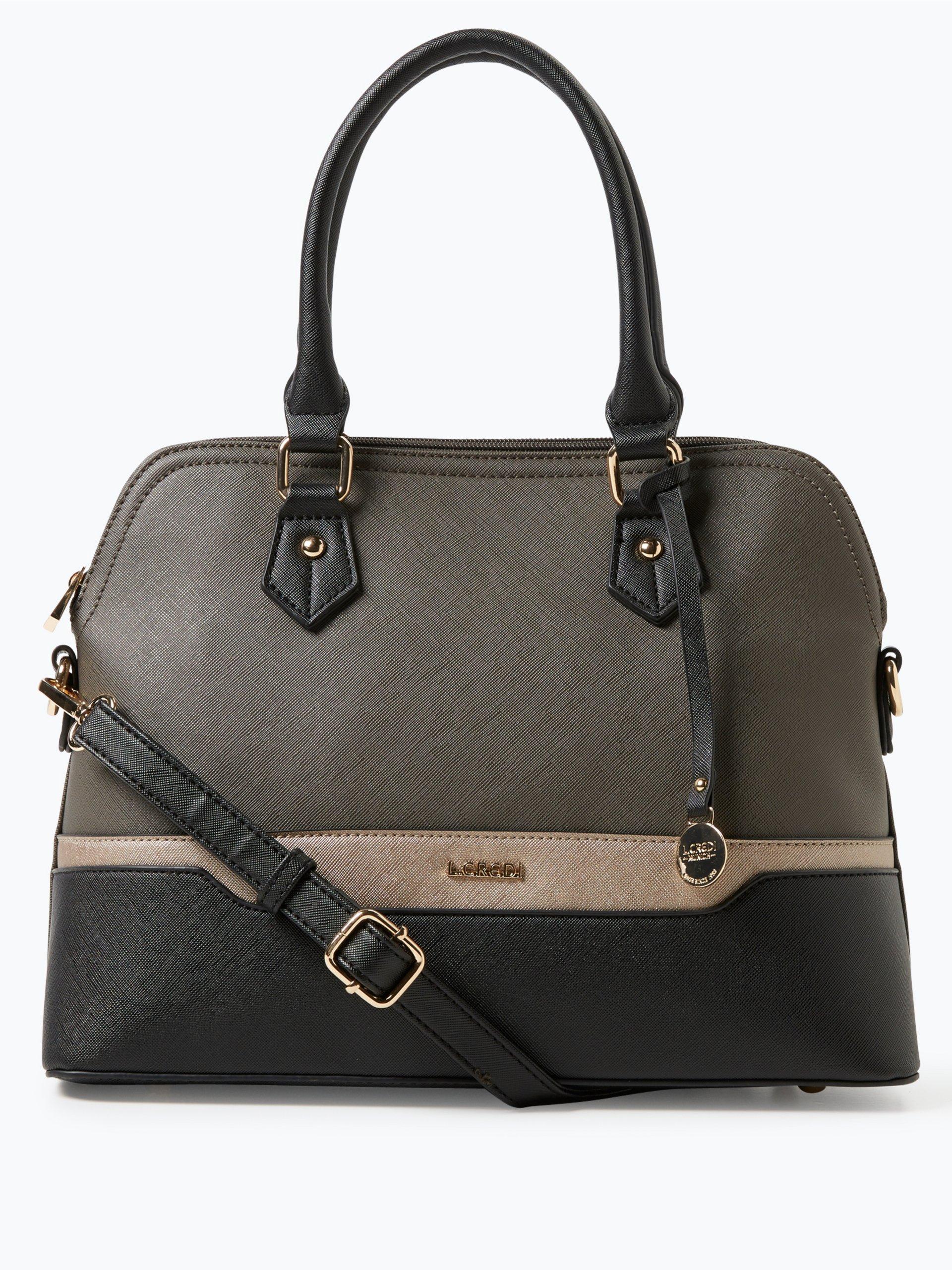 l credi damen handtasche in leder optik grau uni online kaufen peek und cloppenburg de. Black Bedroom Furniture Sets. Home Design Ideas