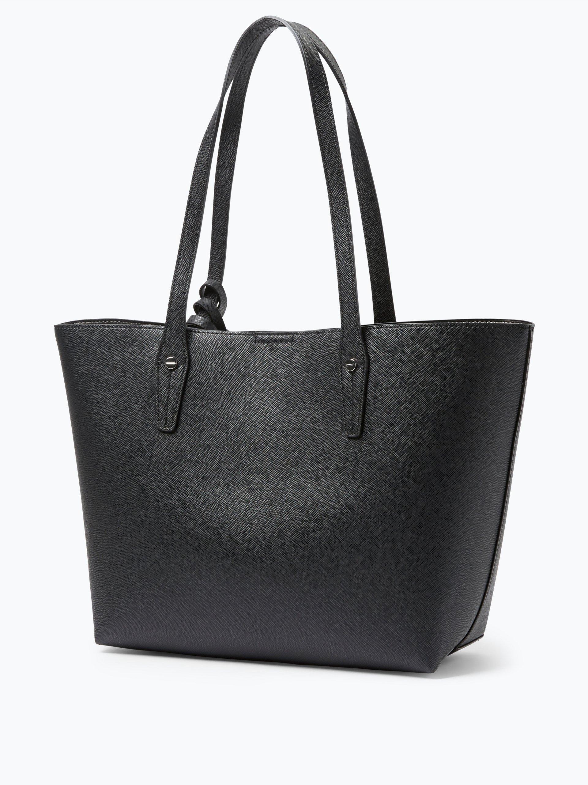 l credi damen shopper mit handtasche palma schwarz uni. Black Bedroom Furniture Sets. Home Design Ideas
