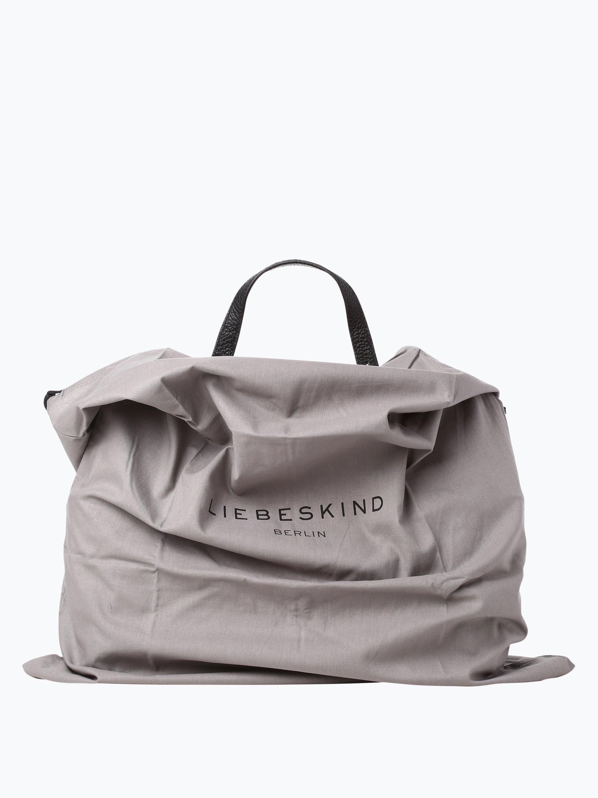 liebeskind damen handtasche aus leder idaho schwarz uni online kaufen vangraaf com. Black Bedroom Furniture Sets. Home Design Ideas
