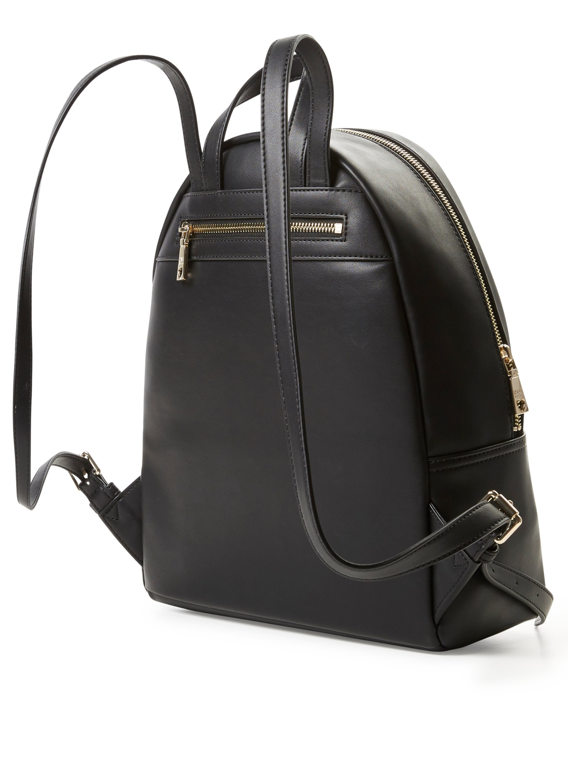 love moschino damen rucksack in leder optik schwarz uni. Black Bedroom Furniture Sets. Home Design Ideas