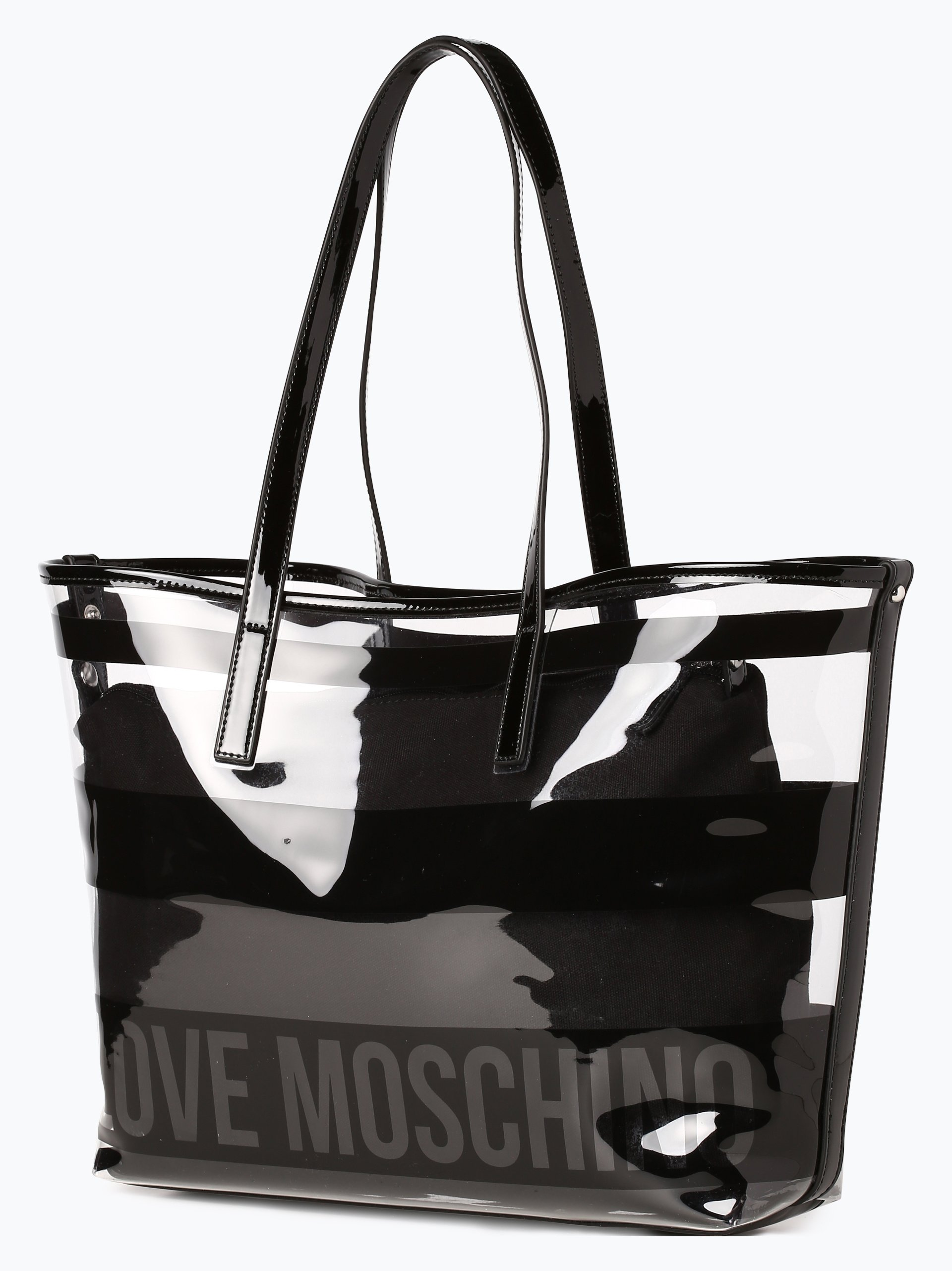 love moschino damen shopper schwarz gemustert online kaufen vangraaf com. Black Bedroom Furniture Sets. Home Design Ideas