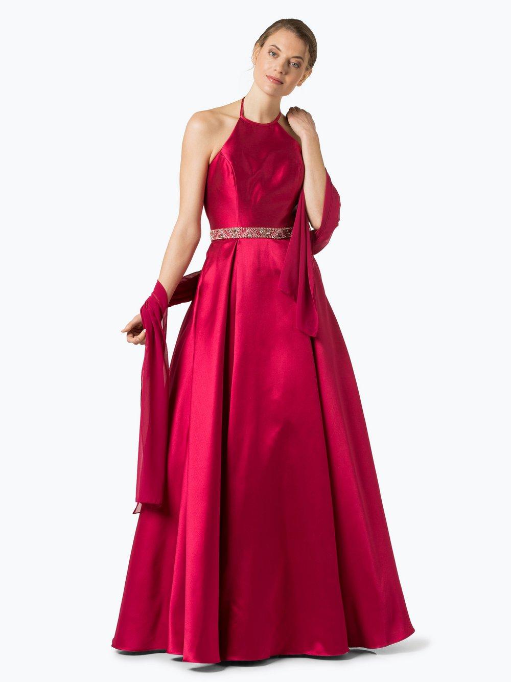 Luxuar Fashion Damen Abendkleid mit Stola himbeer fuchsia uni online ...