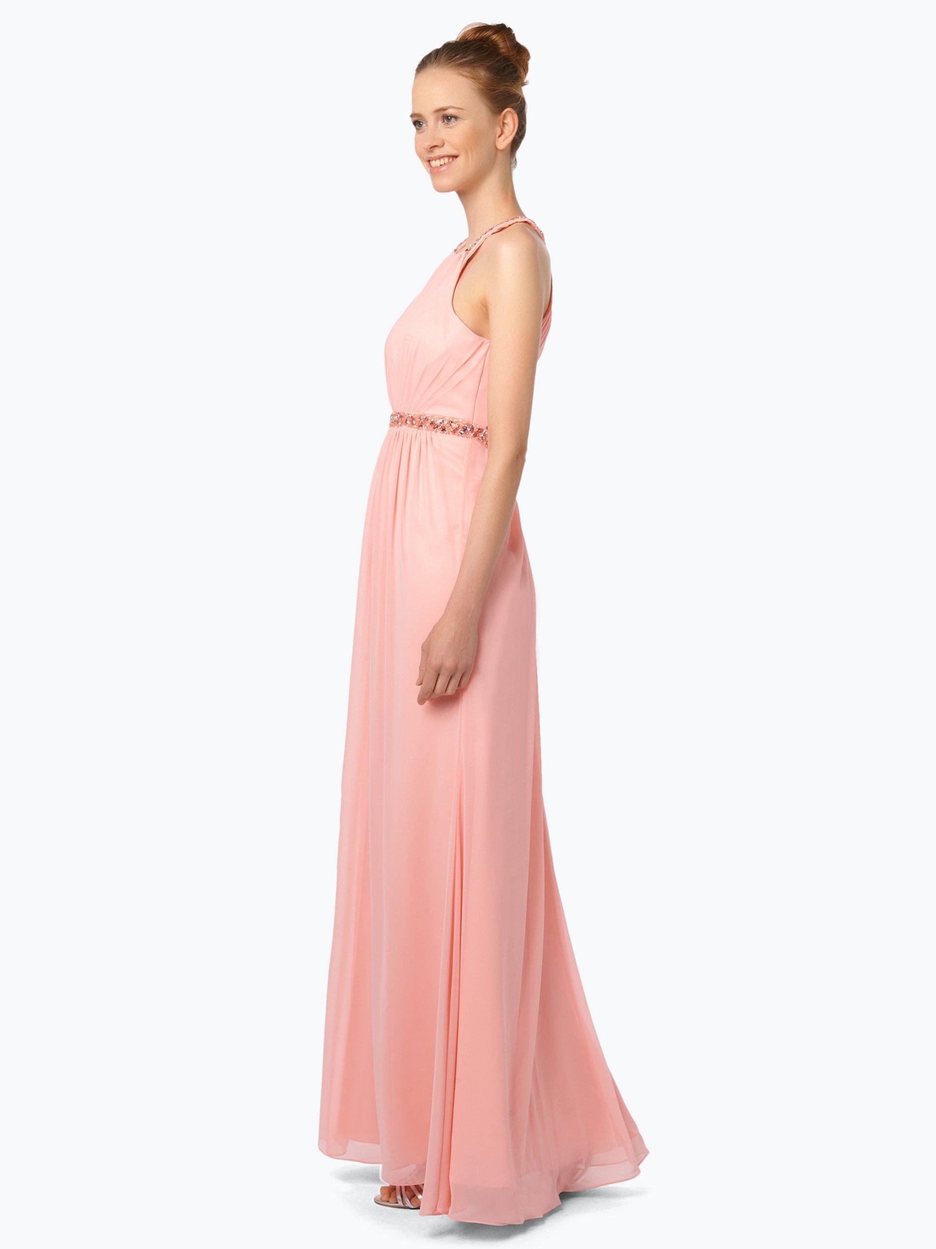 Luxuar Fashion Damen Abendkleid mit Stola koralle uni online kaufen ...