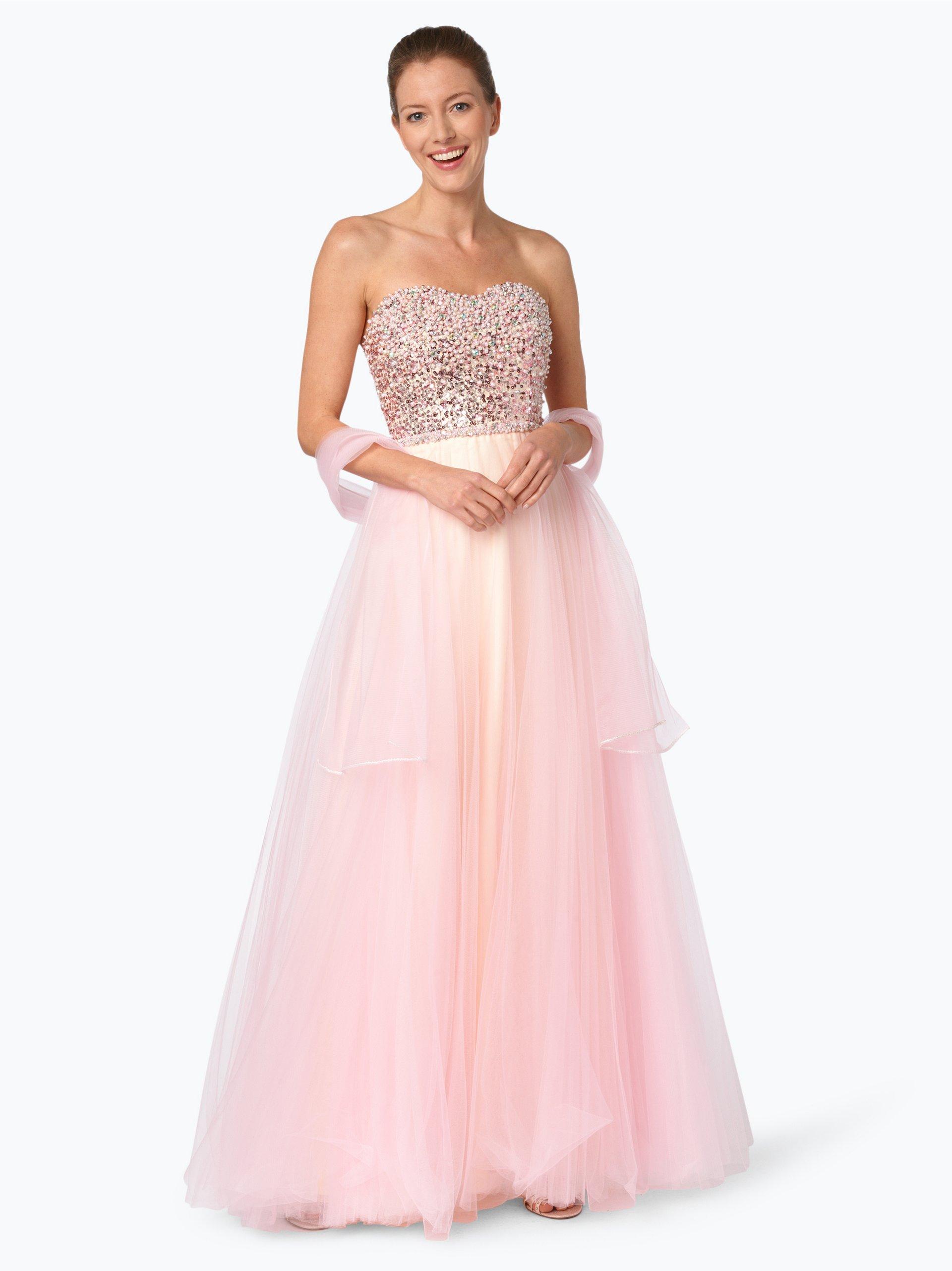 luxuar fashion damen abendkleid mit stola rosa uni online. Black Bedroom Furniture Sets. Home Design Ideas