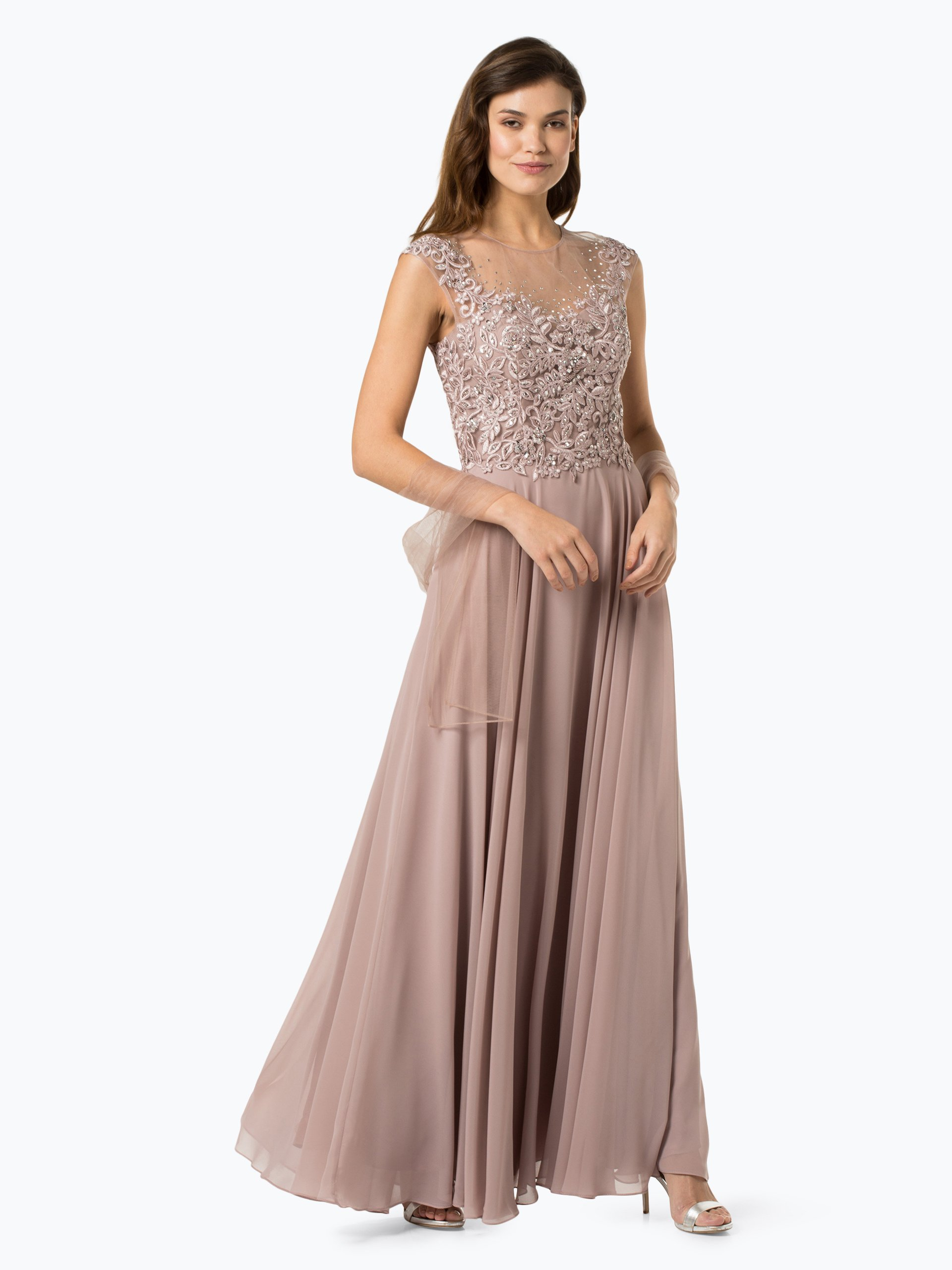 Luxuar Fashion Damen Abendkleid mit Stola