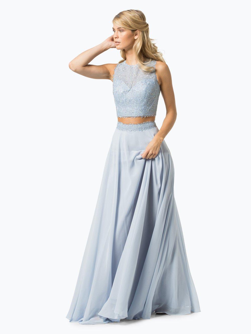 Abendkleider lang babyblau