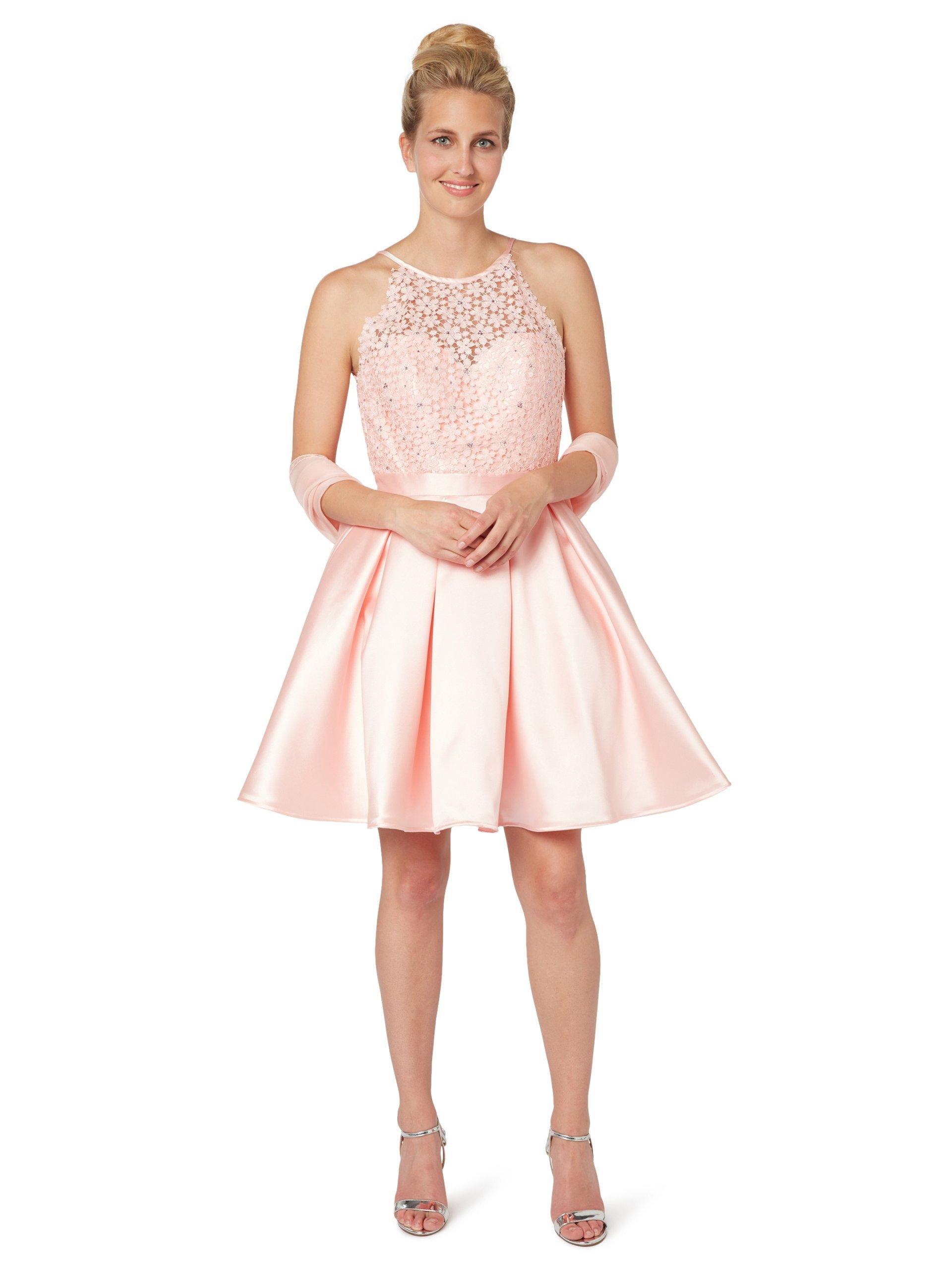 Luxuar Fashion Damen Cocktailkleid mit Stola rosa uni online kaufen ...