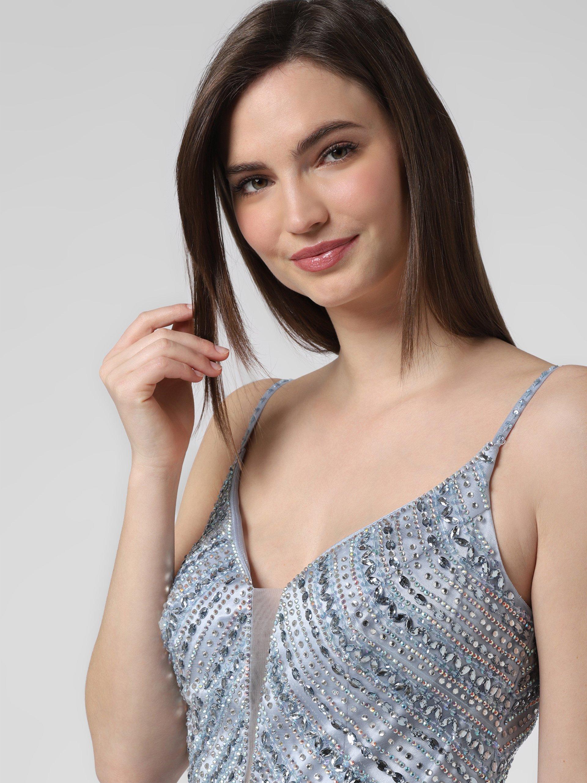 Luxuar Fashion Damska sukienka wieczorowa z etolą