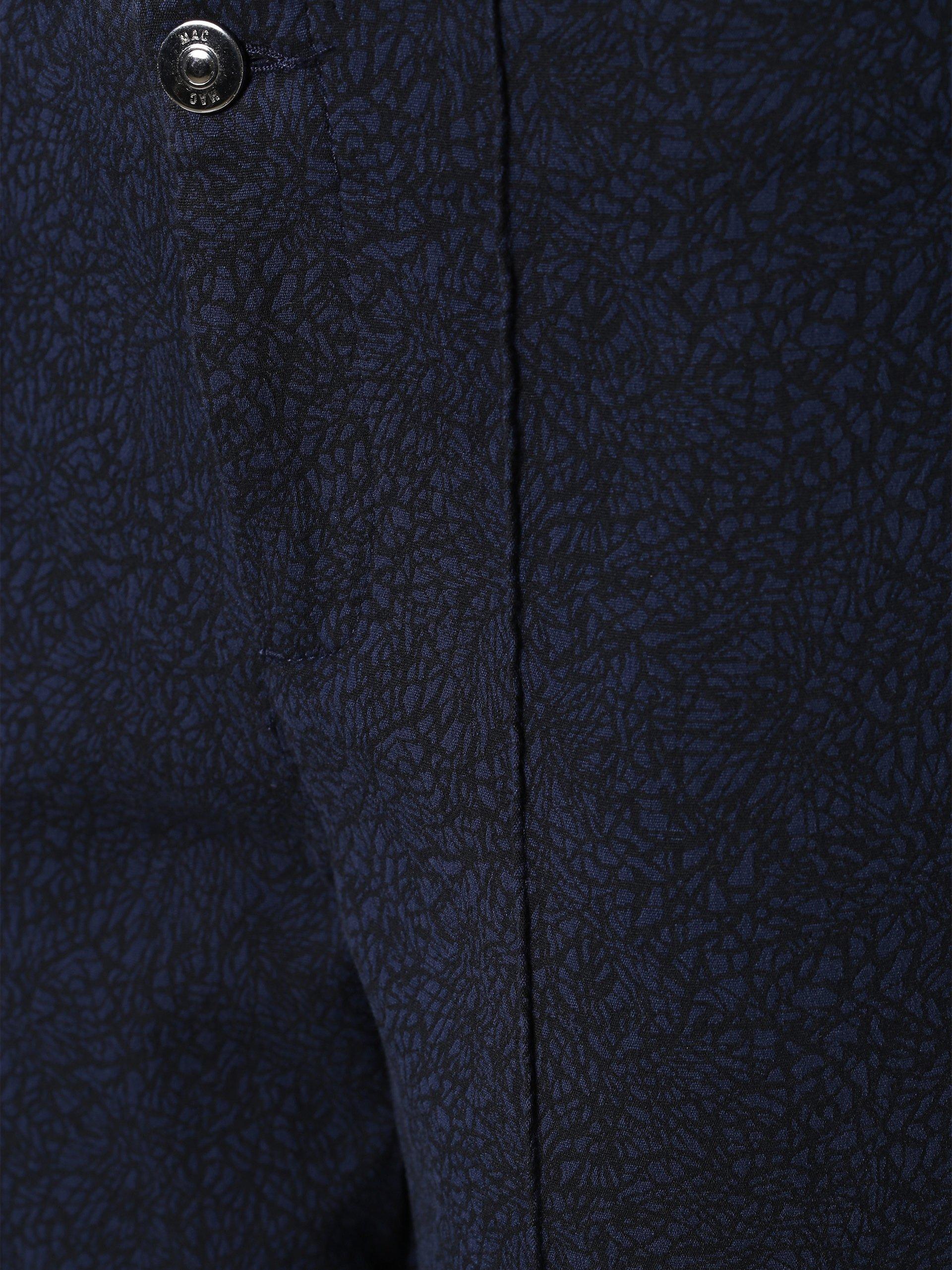mac damen hose anna pure marine gemustert online kaufen. Black Bedroom Furniture Sets. Home Design Ideas