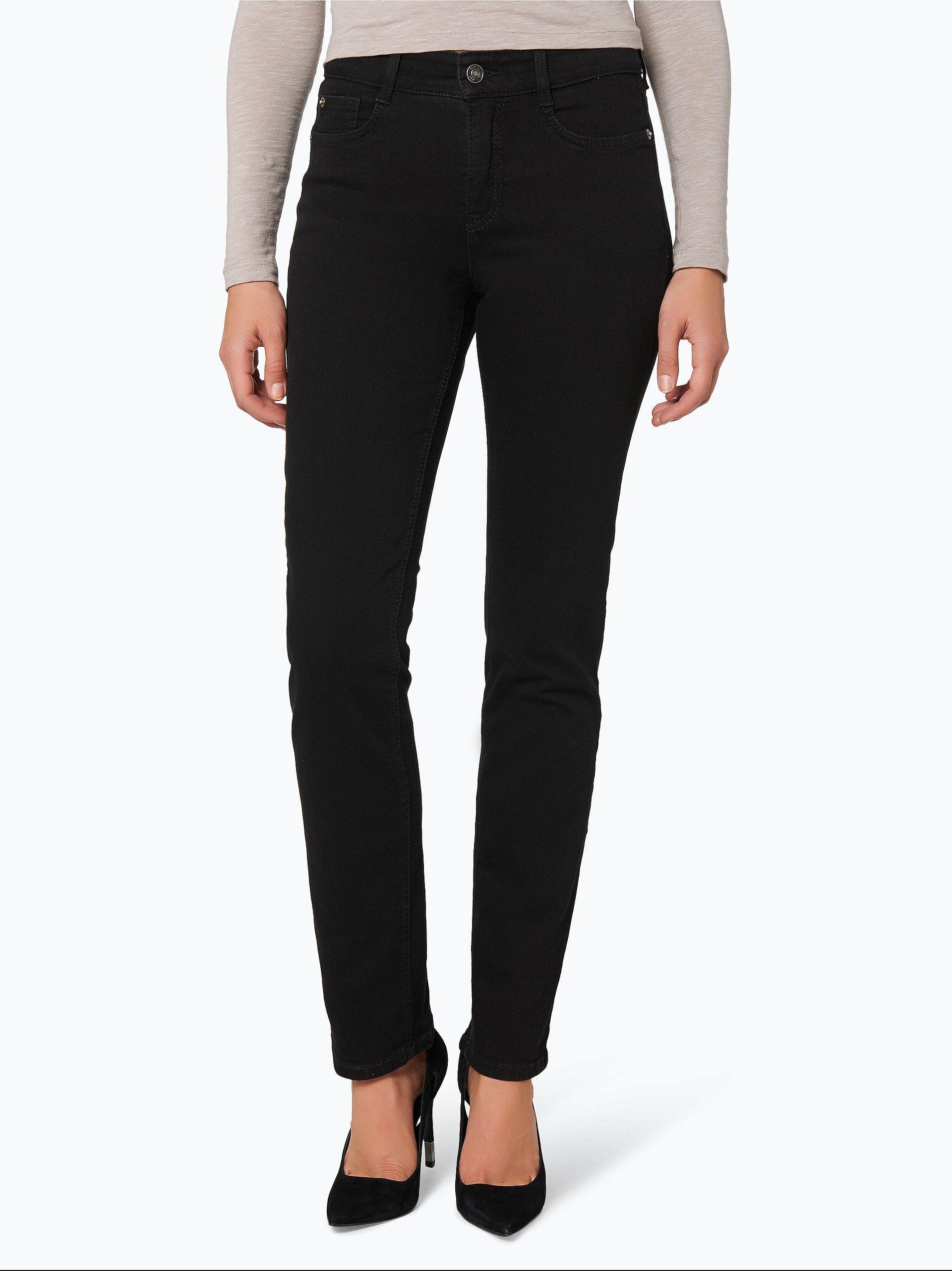 mac damen jeans angela schwarz uni online kaufen peek. Black Bedroom Furniture Sets. Home Design Ideas
