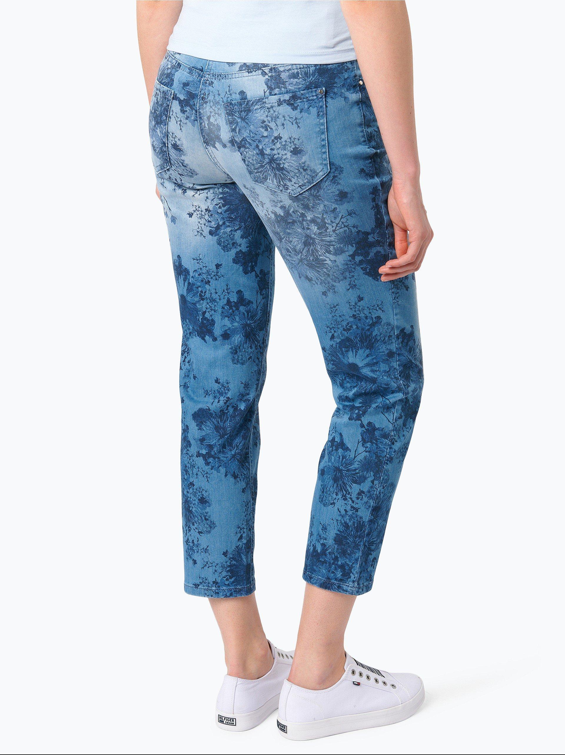 mac damen jeans melanie 7 8 medium stone gemustert. Black Bedroom Furniture Sets. Home Design Ideas
