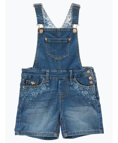 Mädchen Jeans-Latzshorts