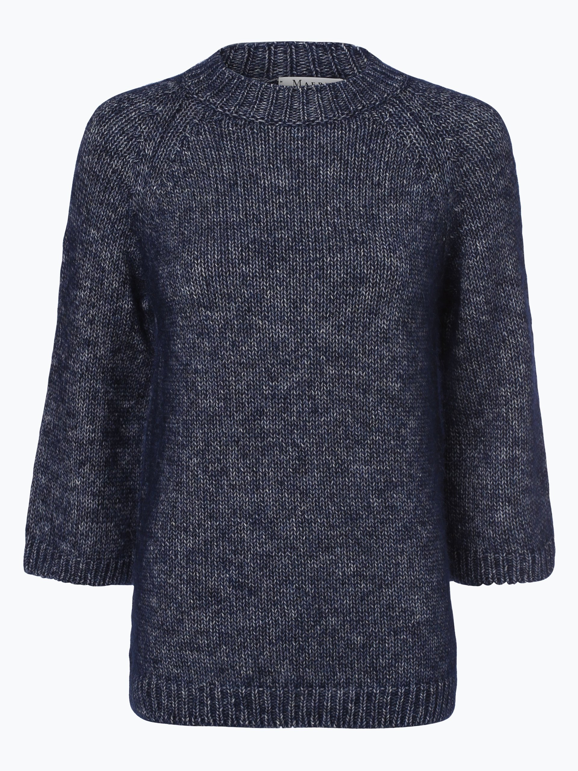 maerz damen pullover mit alpaka anteil blau meliert online. Black Bedroom Furniture Sets. Home Design Ideas